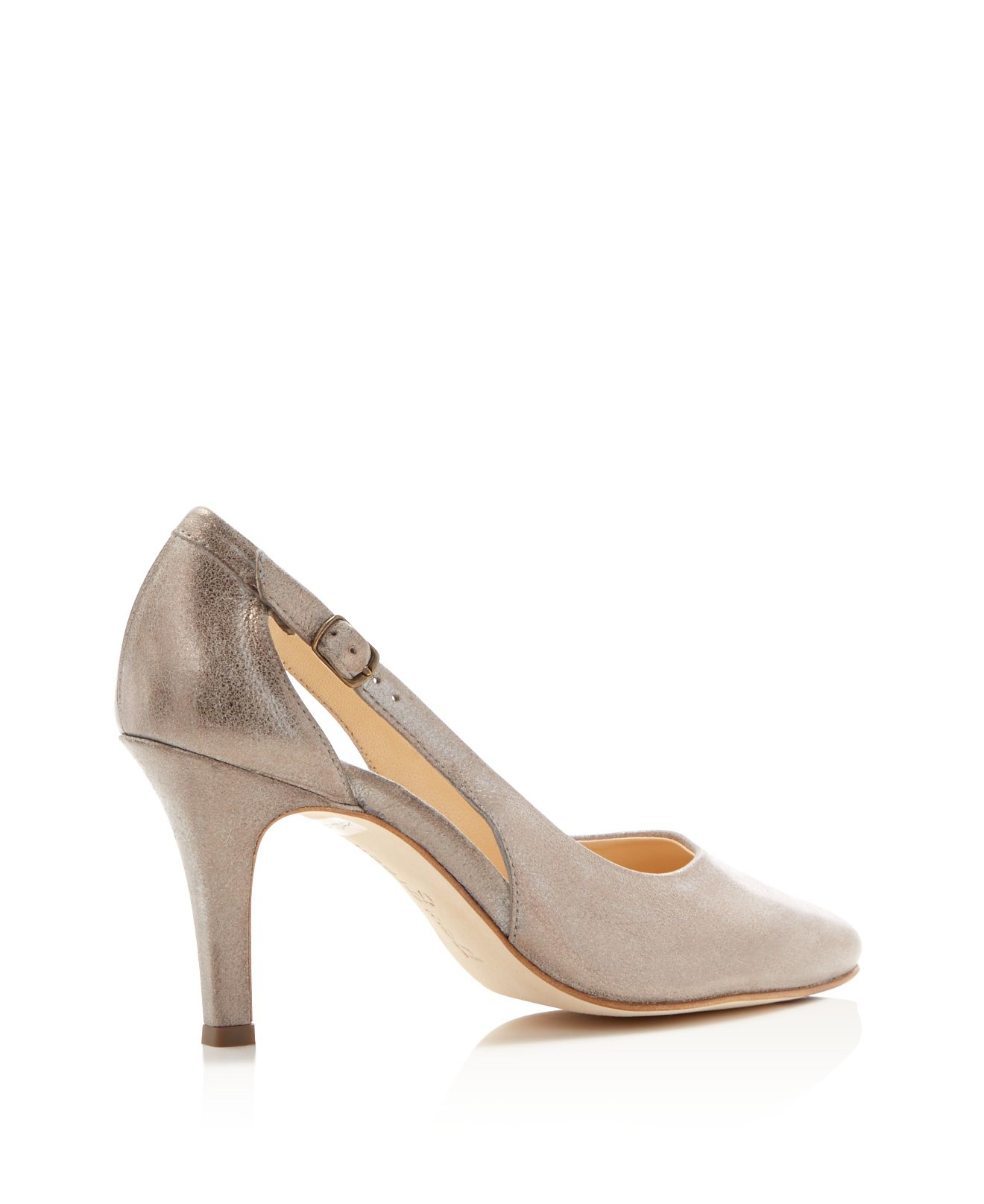 paul green contessa metallic high heel pumps in beige smoke lyst. Black Bedroom Furniture Sets. Home Design Ideas