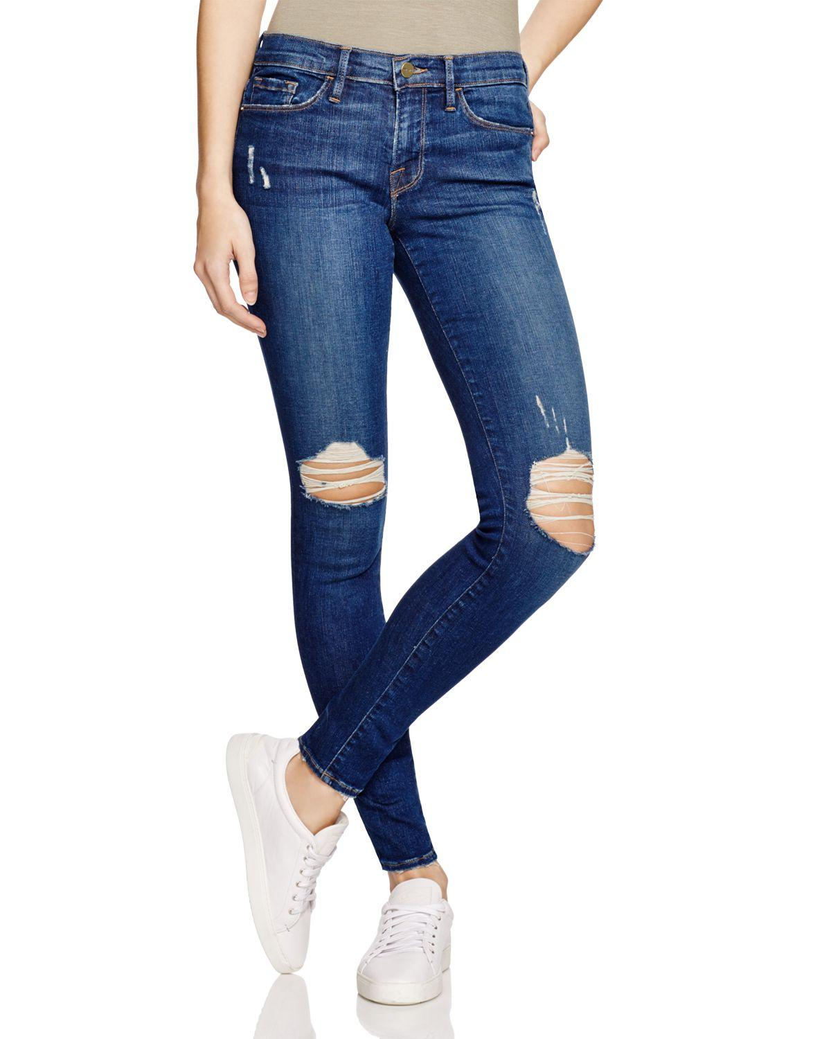 Exclusive Denim Adidas Top Ten 2000 Swaggy P Pes For: Frame Le Skinny Jeans In Bleecker