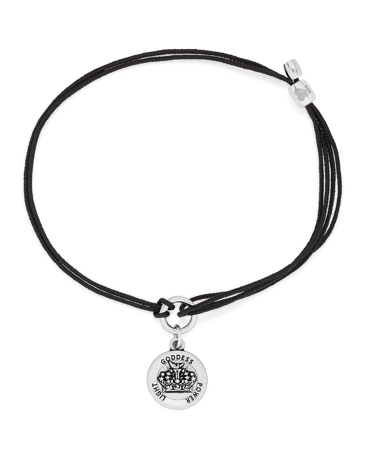 alex and ani s crown adjustable charm bracelet in