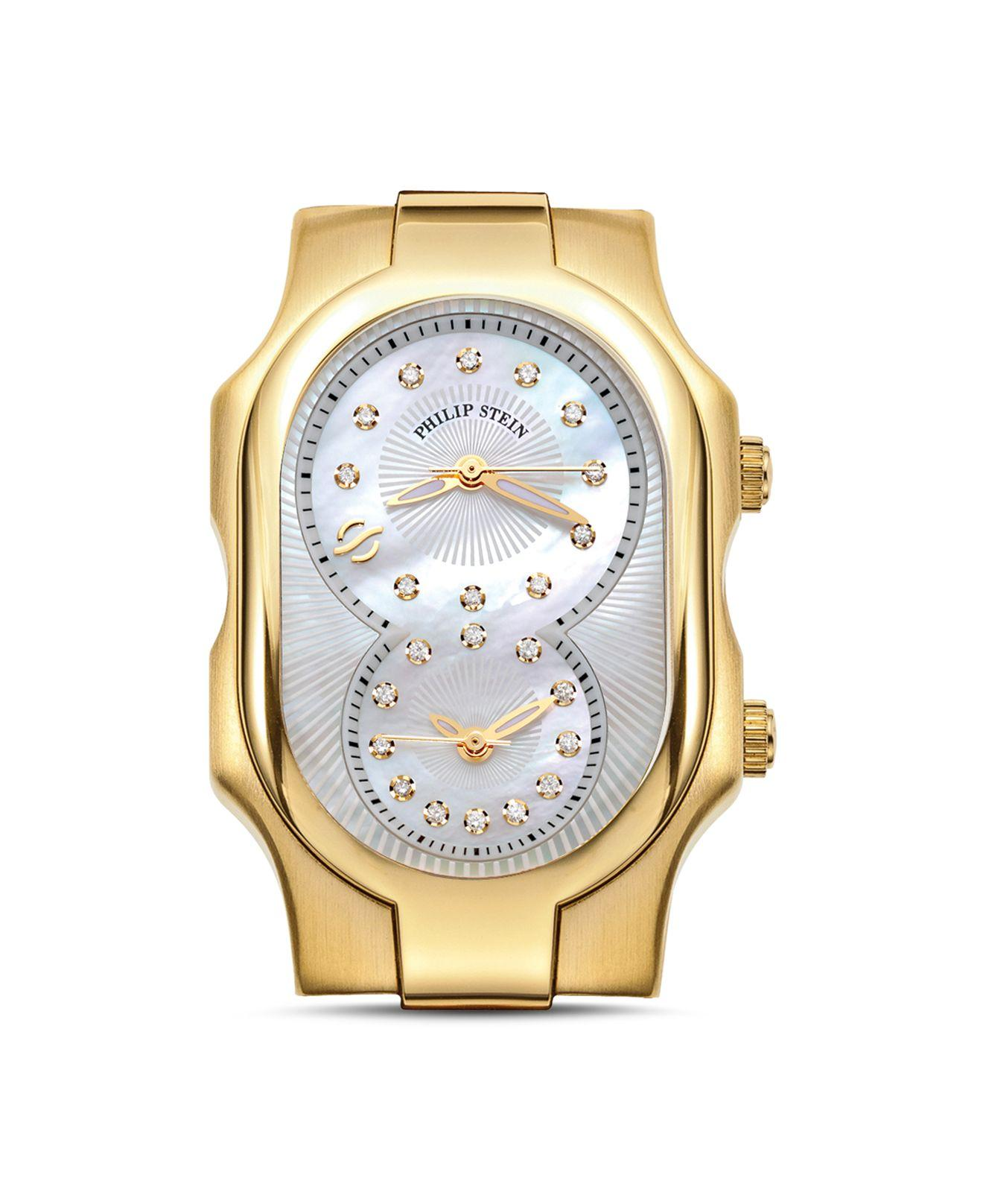 Lyst - Philip stein Signature Small Gold Ion-plated ...