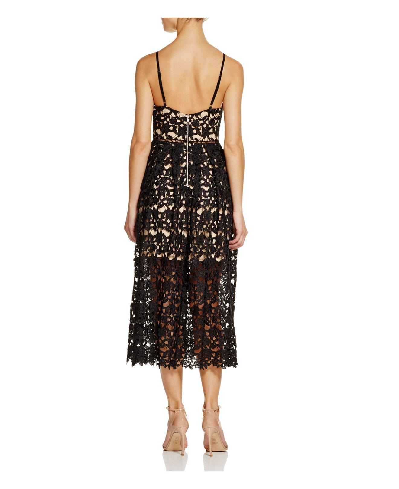 Aqua Lace Cami Midi Dress 100 Exclusive In Beige Black