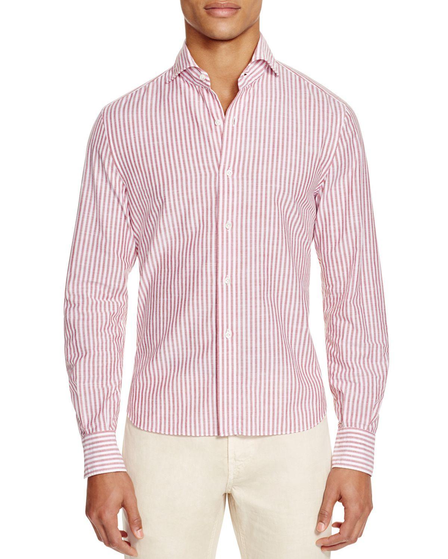 Eidos solaro uneven university stripe slim fit button down for College button down shirts