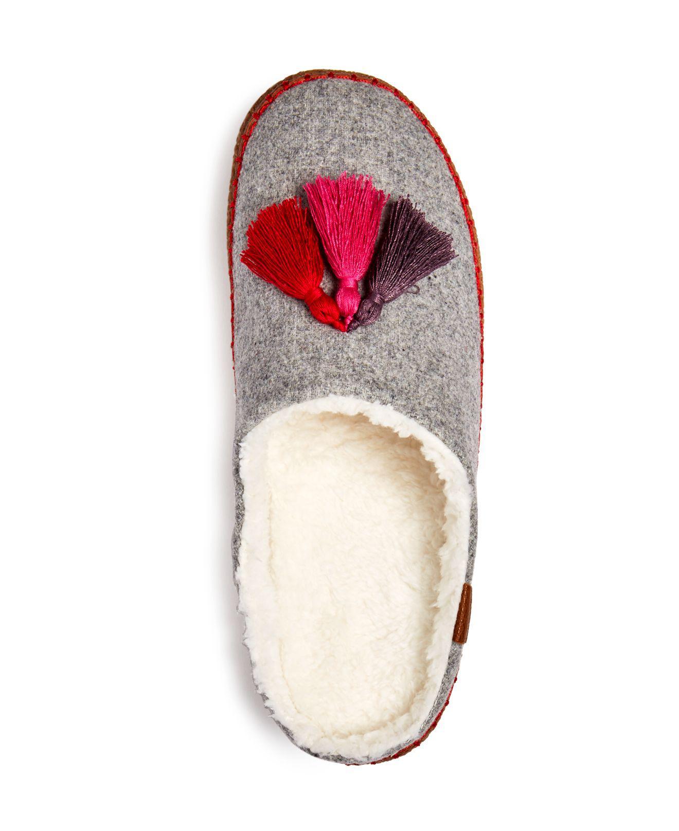 90d50e968dd TOMS Gray Women's Ivy Drizzle Wool Tassel Slippers