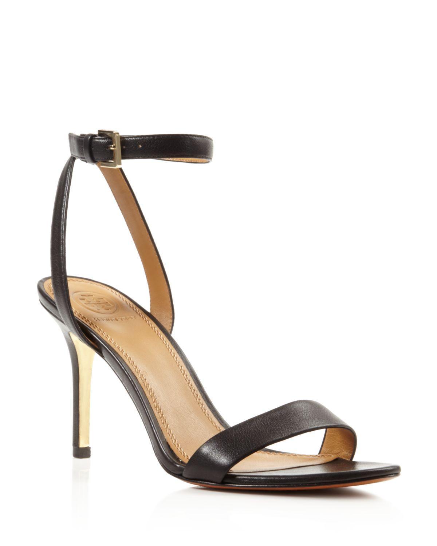 abaf264ab6c Lyst - Tory Burch Elana Open Toe High Heel Sandals in Black