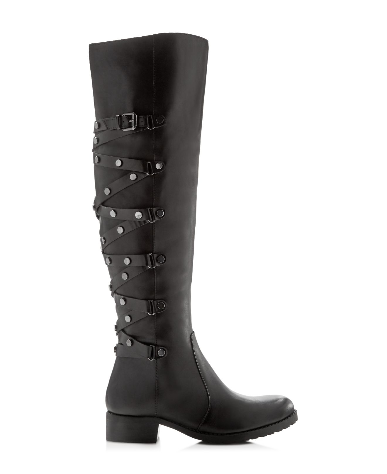 Carlos By Carlos Santana Lace Metropolis Over The Knee Boots - Compare At $225 in Black