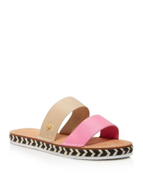 Kate Spade Idreena Double Band Espadrille Slide Sandals