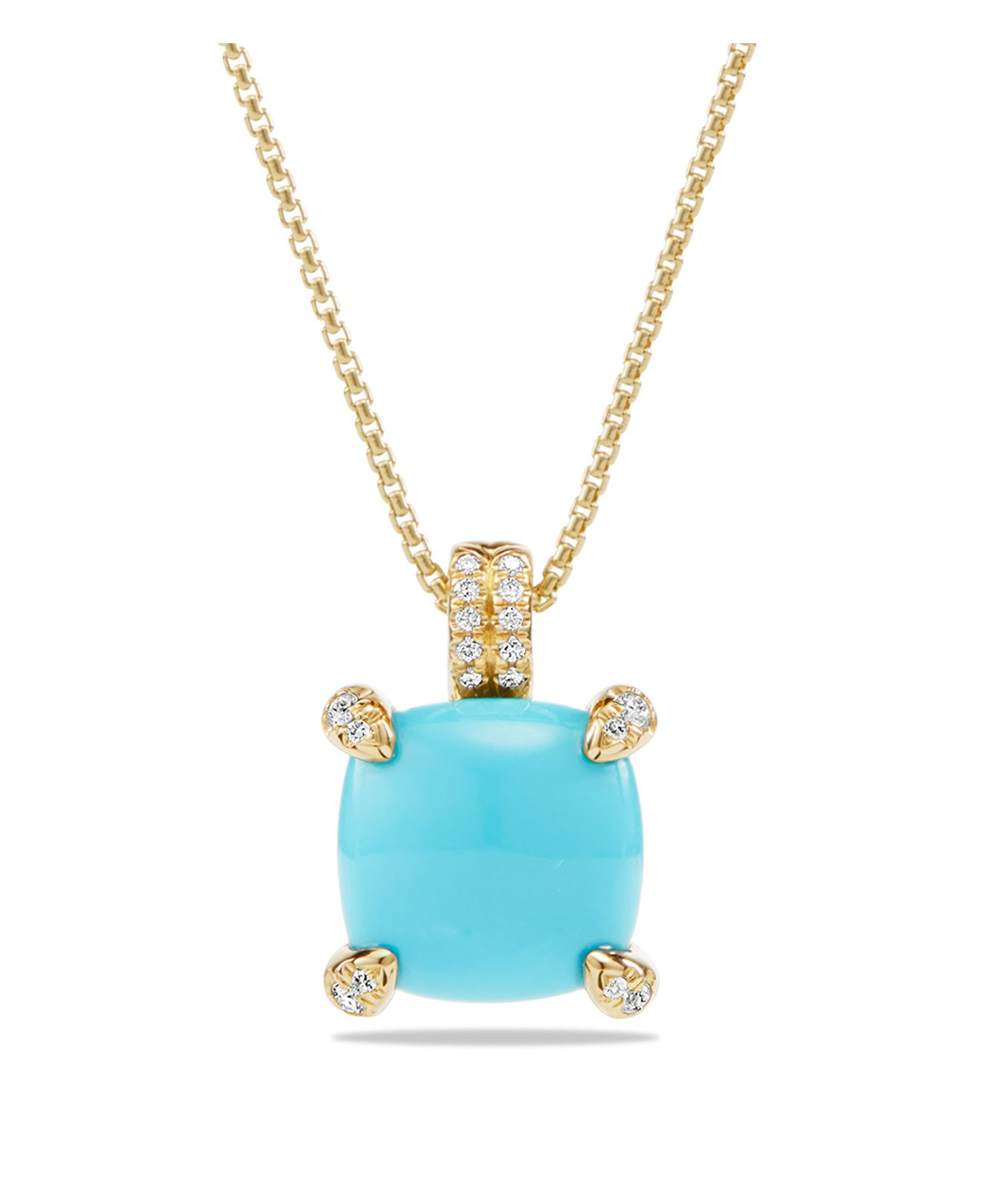 david yurman ch226telaine pendant necklace with turquoise