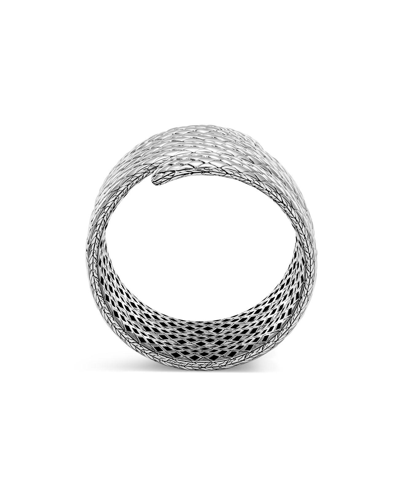 John Hardy Legends Cobra Collection Multiple Coil Bracelet in Silver (Metallic)