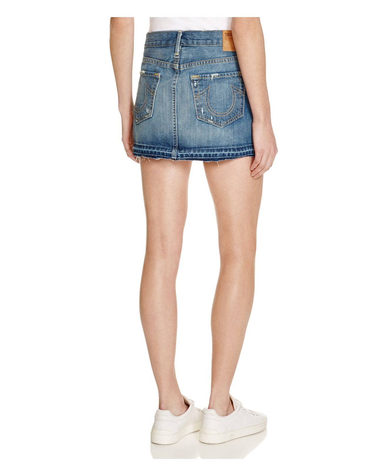 true religion alexia denim mini skirt in vintage in