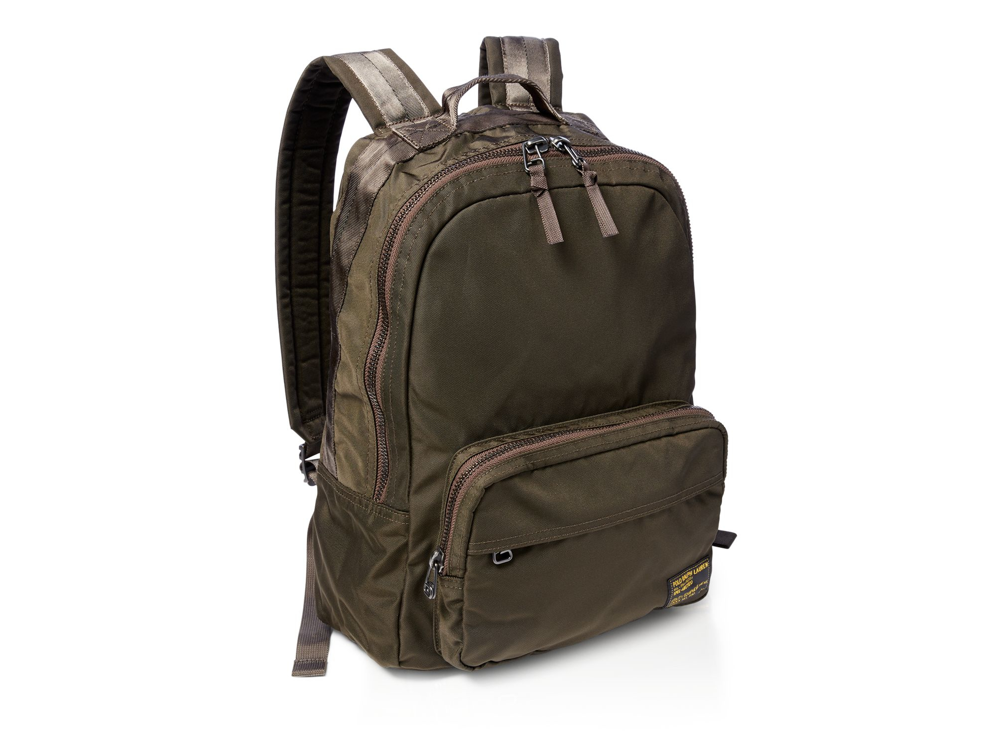 Lyst - Polo Ralph Lauren Nylon Military Backpack in Green for Men b222acc37ad81