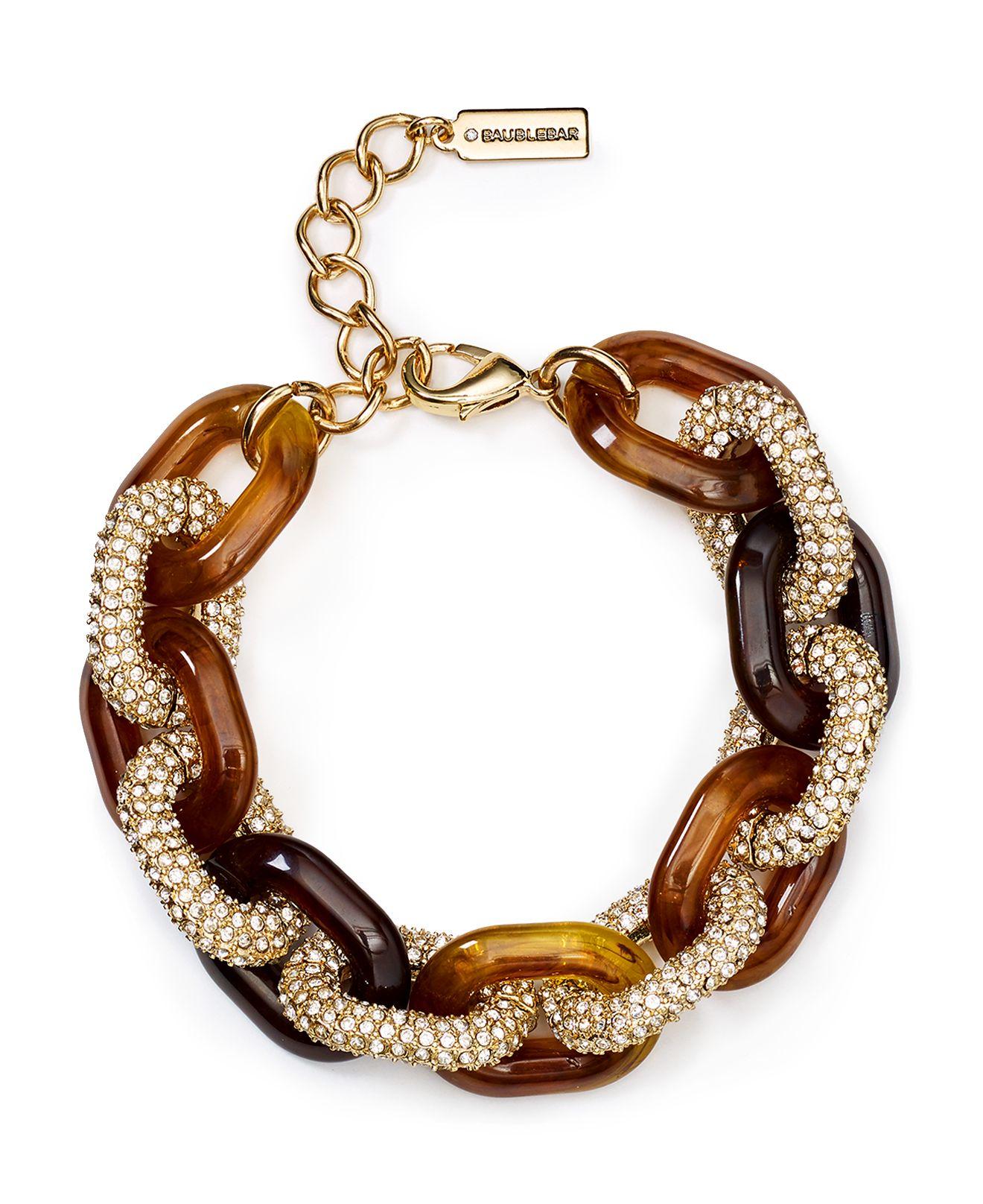 Baublebar Pave Link Bracelet Lyst
