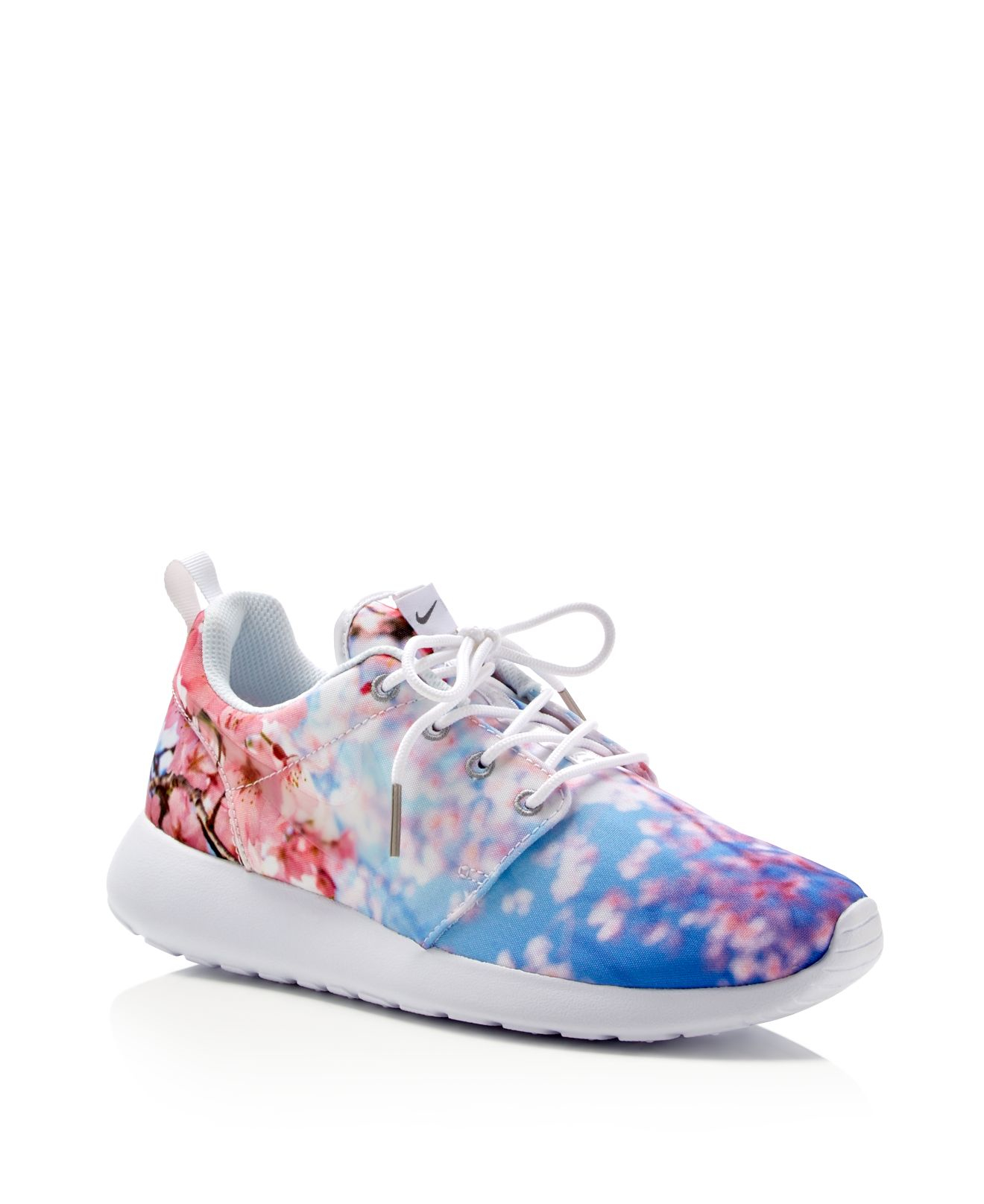 nike roshe one cherry blossom lace up sneakers in natural. Black Bedroom Furniture Sets. Home Design Ideas