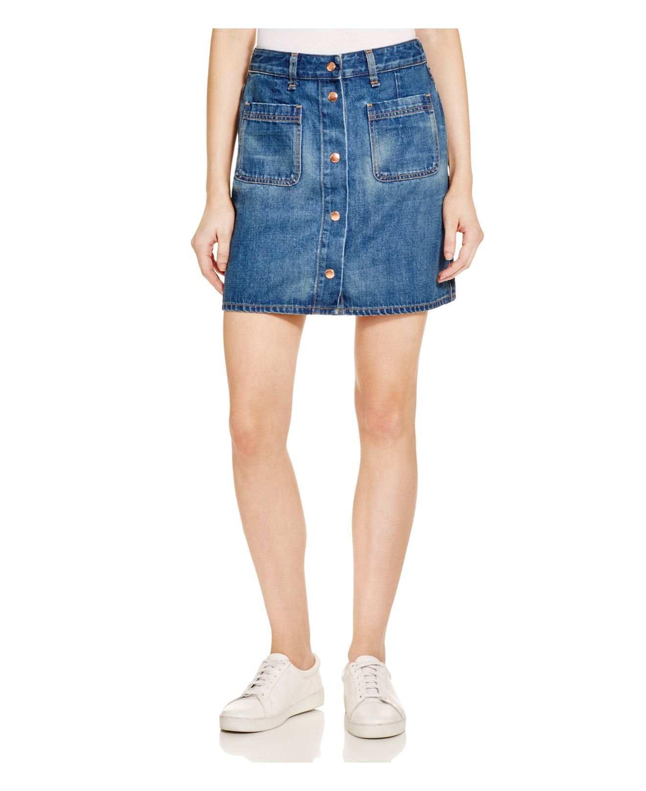 Rag & bone Mini Santa Cruz Denim Skirt In Capitol in Blue ...