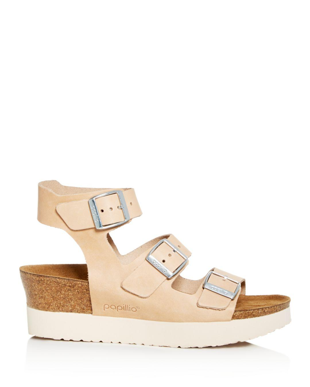 d649c6e5a141 Lyst - Birkenstock Women s Papillio By Linnea Platform Wedge Sandals in  Natural