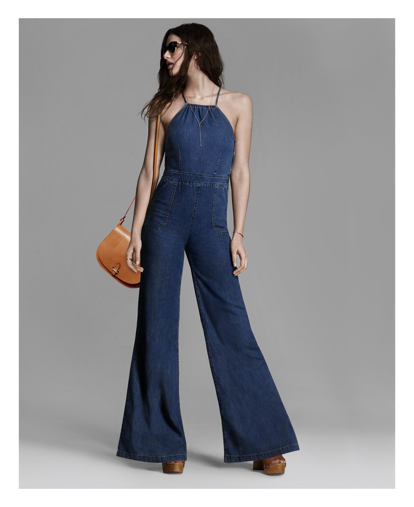 234484ebc3be PAIGE Denim Rihannon Denim Jumpsuit in Blue - Lyst
