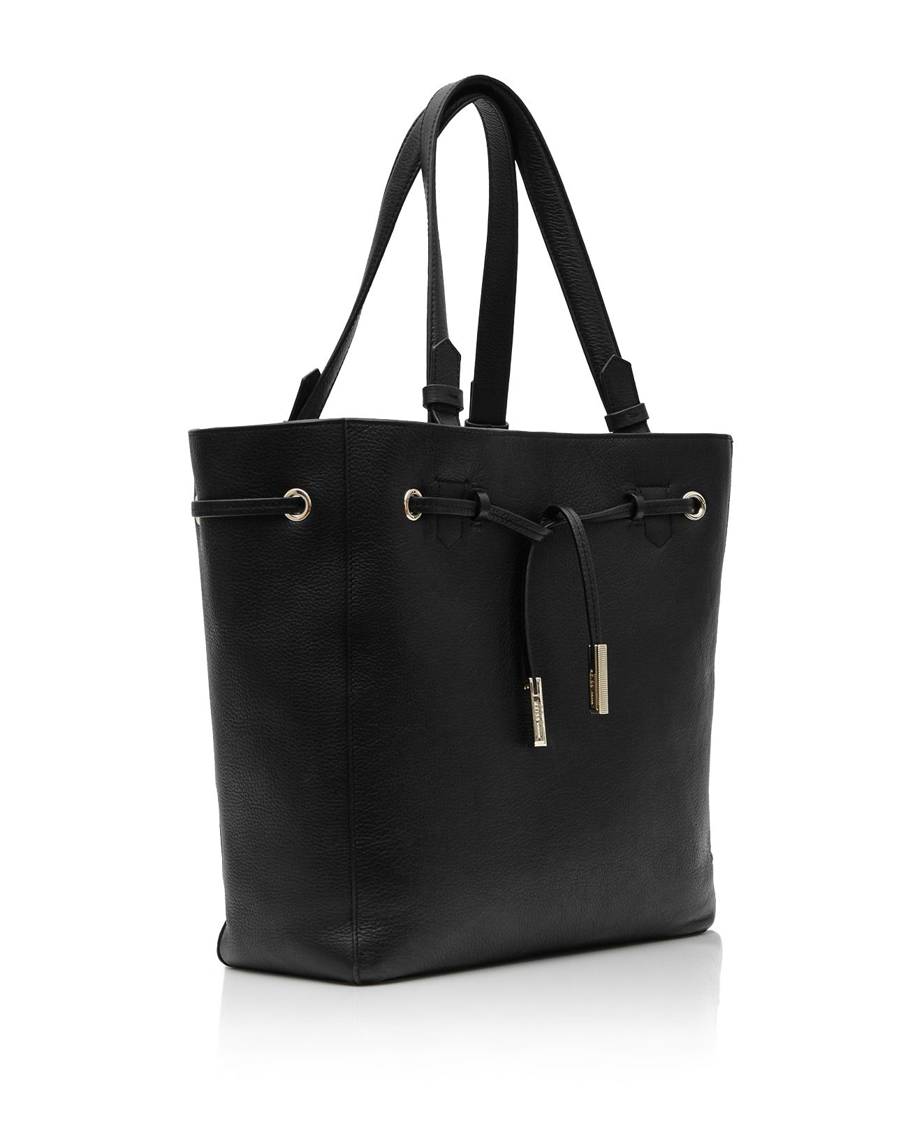 Reiss Synthetic Large Enza Tote in Black