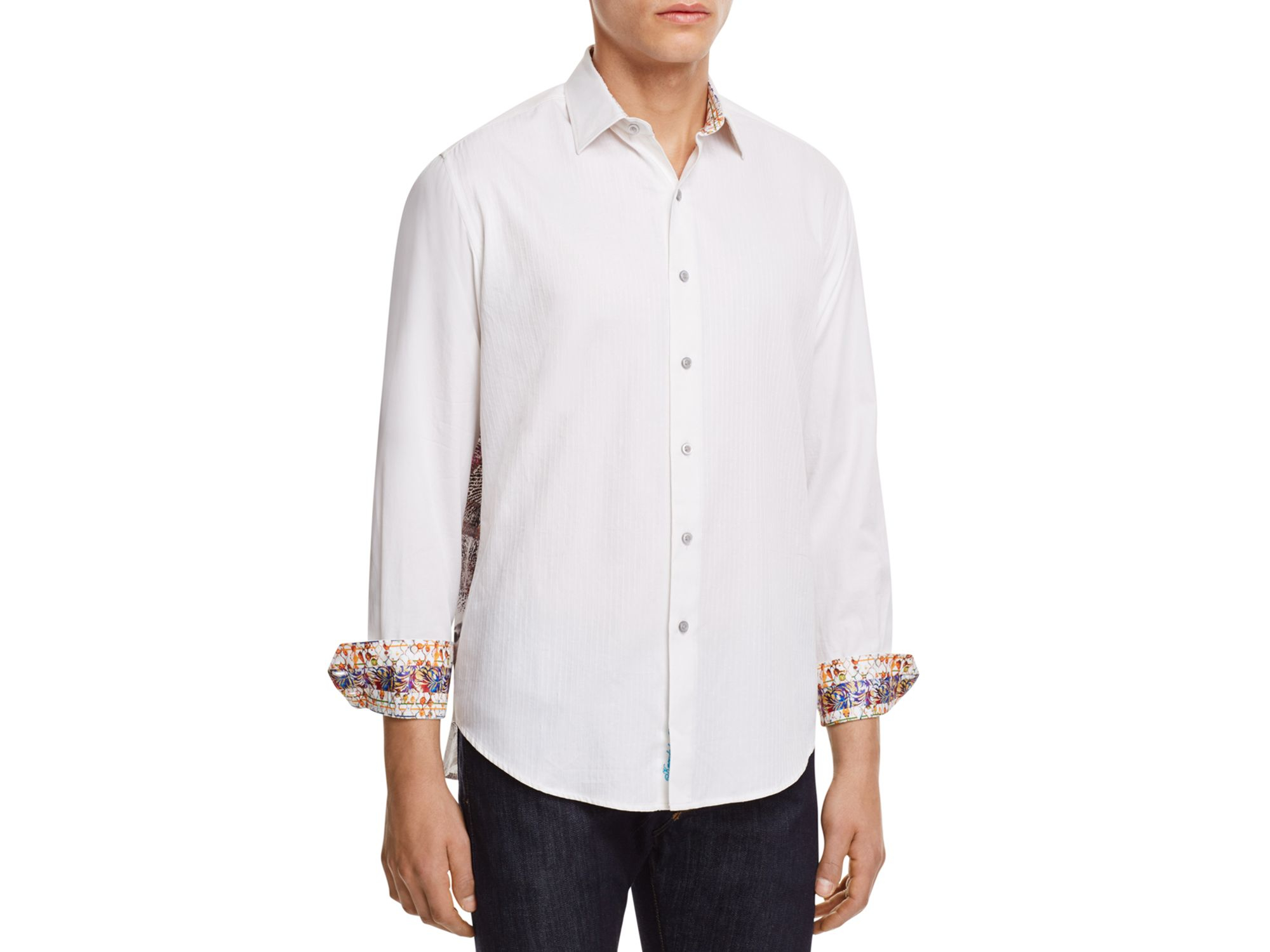 Robert graham volcanic rock classic fit button down shirt for Preppy button down shirts