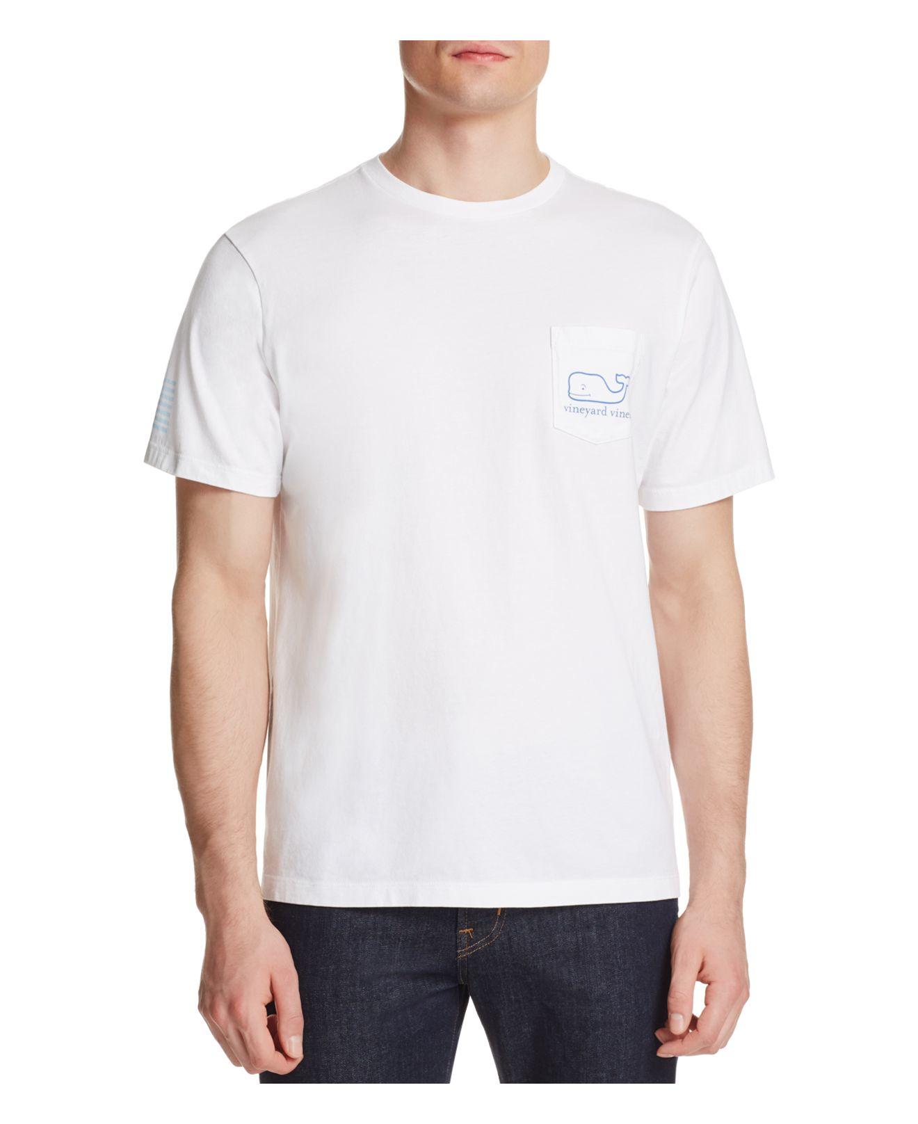 Vineyard vines fisher wake graphic tee in white for men lyst for Vineyard vines fishing shirt