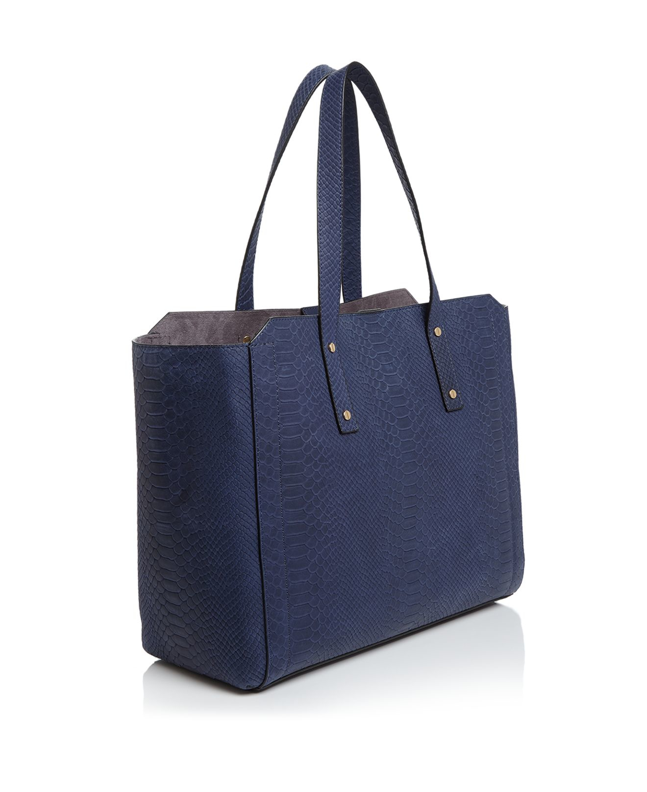 Ivanka Trump Leather Soho Work Solutions Battery-charging Pack Tote in Purple
