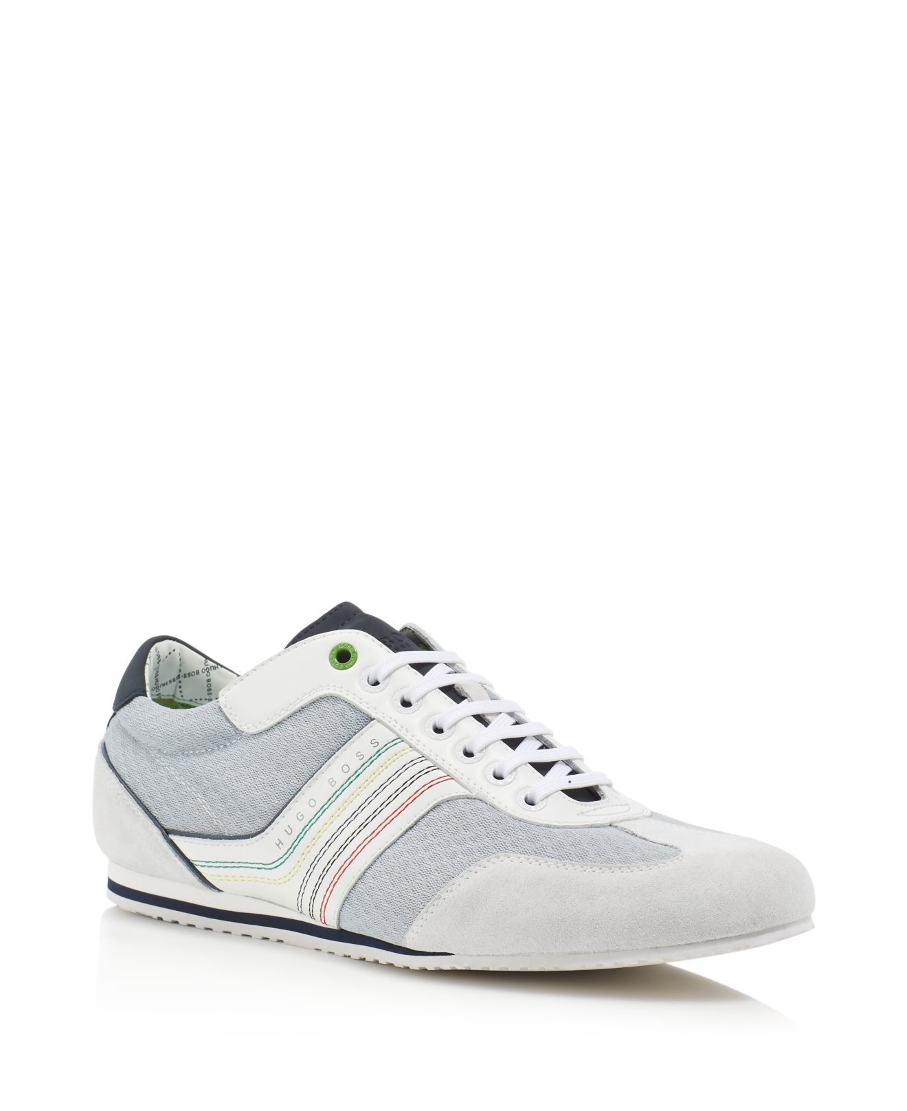 boss green hugo boss victov lace up sneakers in white for men lyst. Black Bedroom Furniture Sets. Home Design Ideas