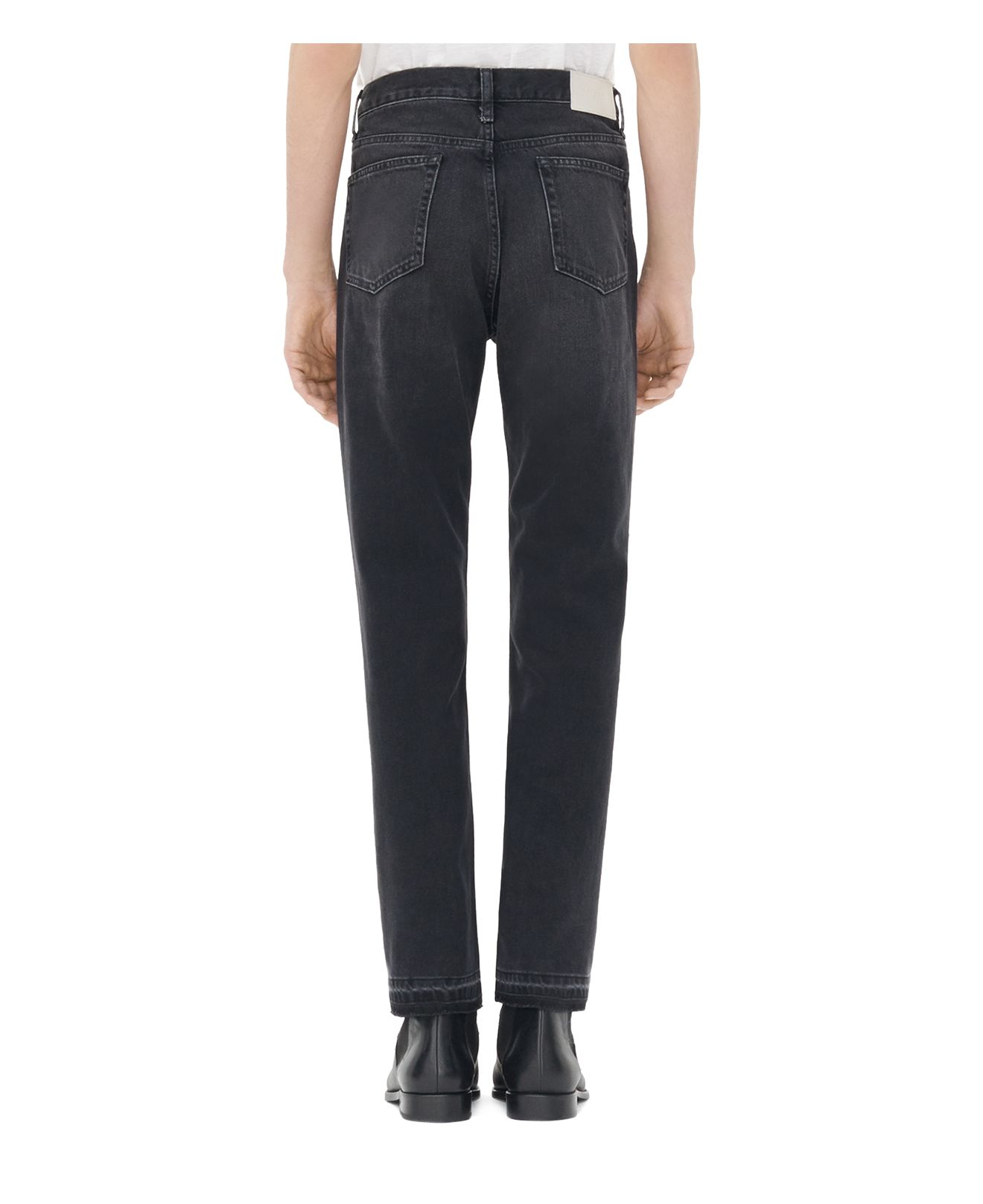 Sandro Denim Paint Curtis Straight Jeans In Noir in Black for Men