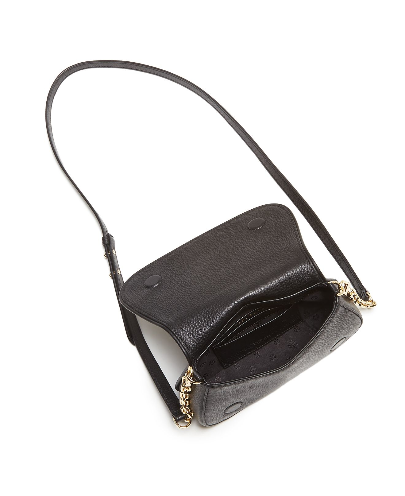 Lyst Tory Burch Marion Quilted Crossbody Bag In Black