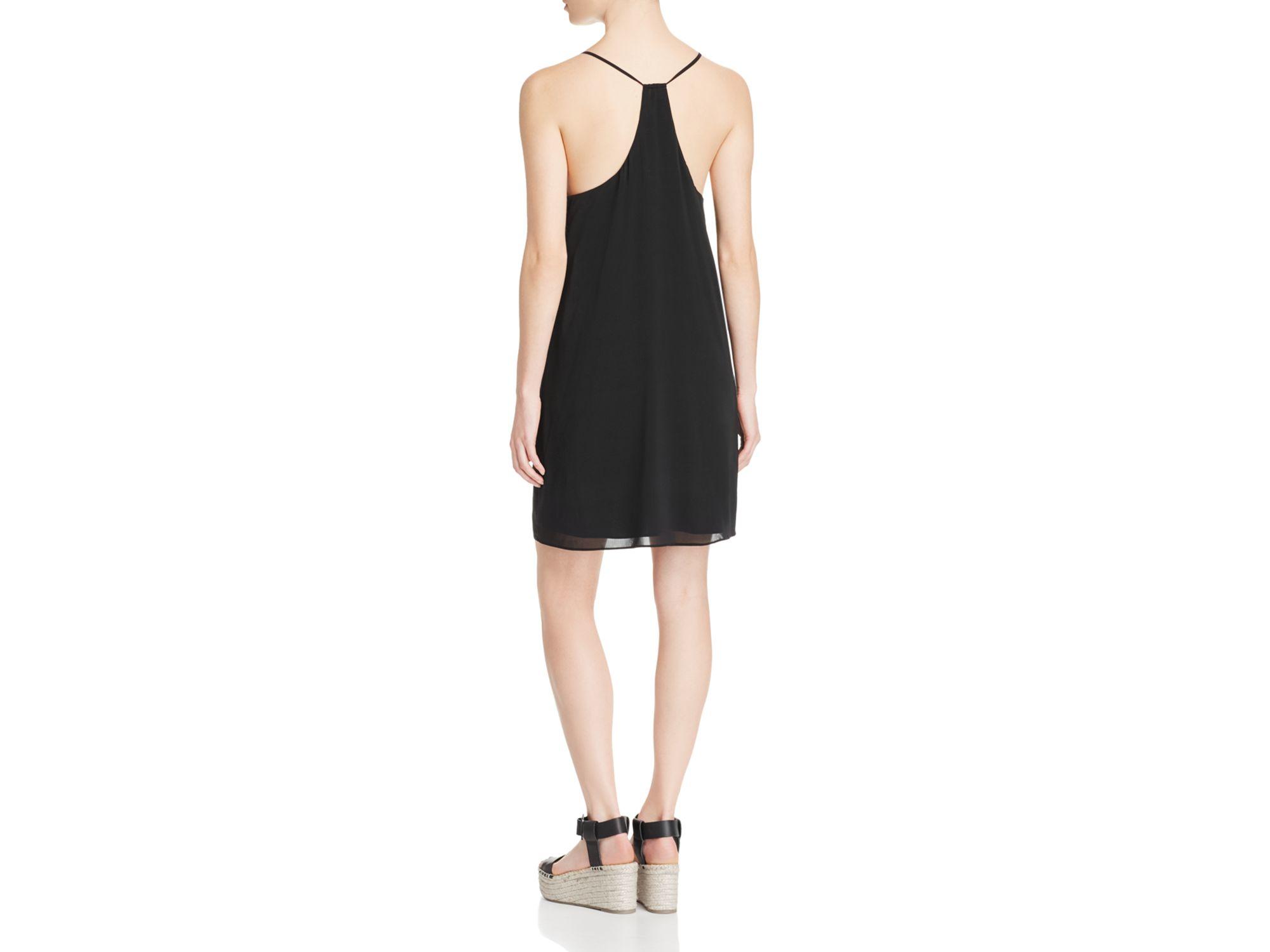 Alice Olivia Fierra Stretch Silk Dress In Black Lyst
