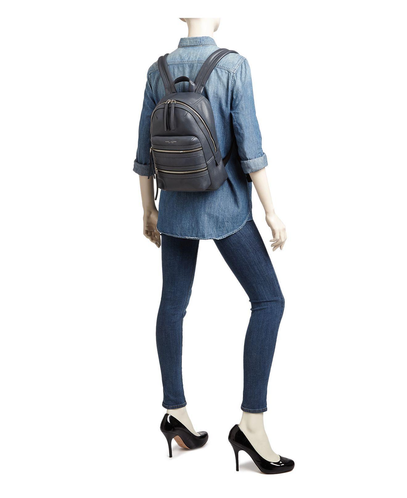 Marc Jacobs Leather Biker Backpack in Teal (Black)