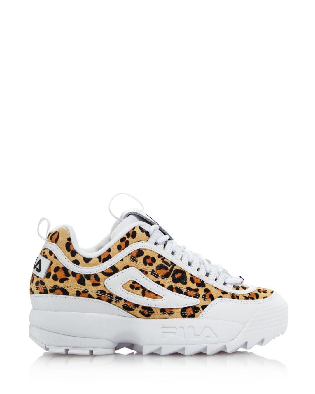 najlepszy zasznurować świetne ceny Women's Disruptor 2 Leopard Sneakers