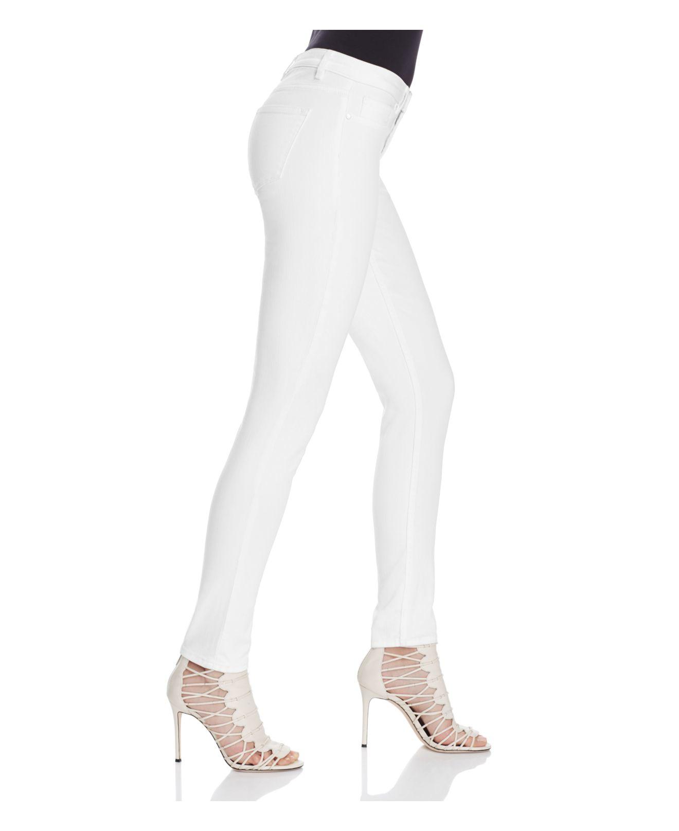 Elie Tahari Denim Azella Skinny Jeans In White