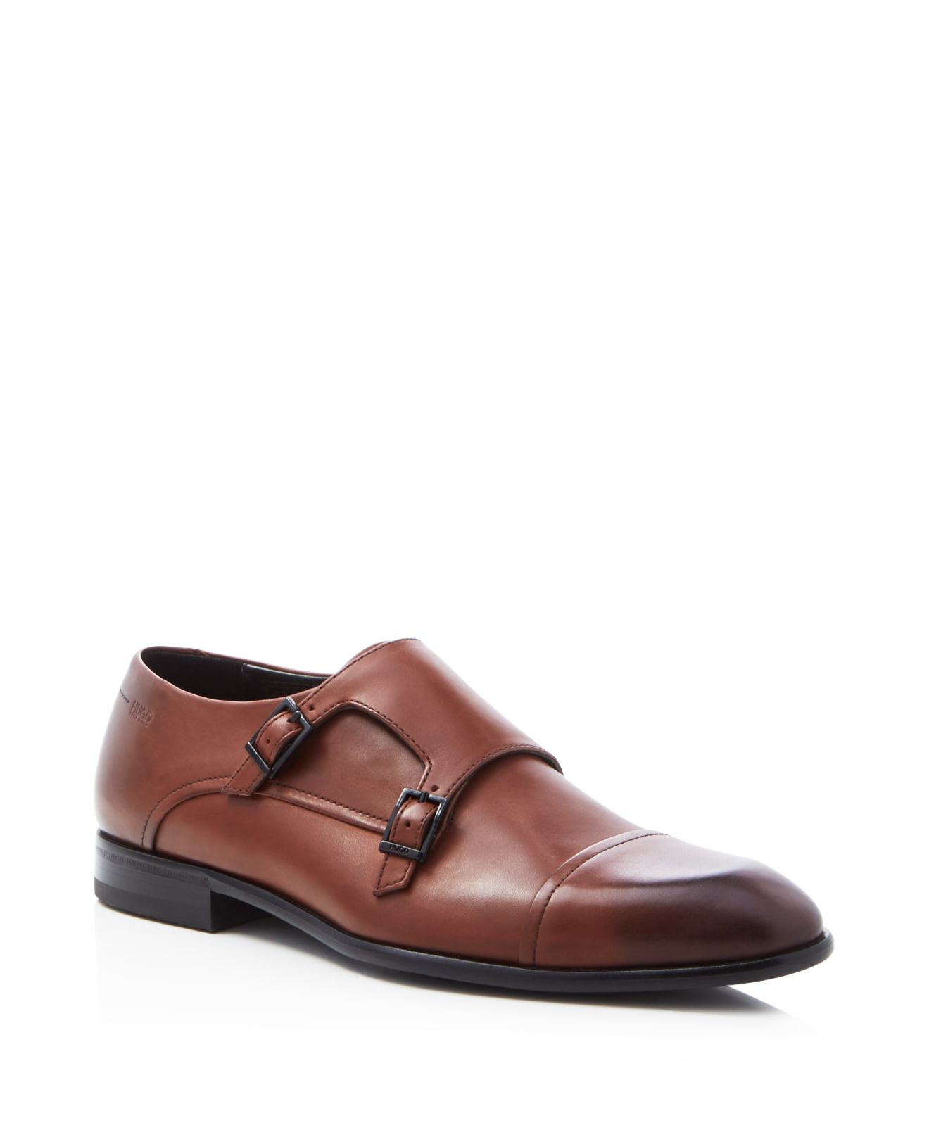 f691e2072b1 Lyst - HUGO Dressapp Double Monk Strap Cap Toe Loafers in Brown for Men