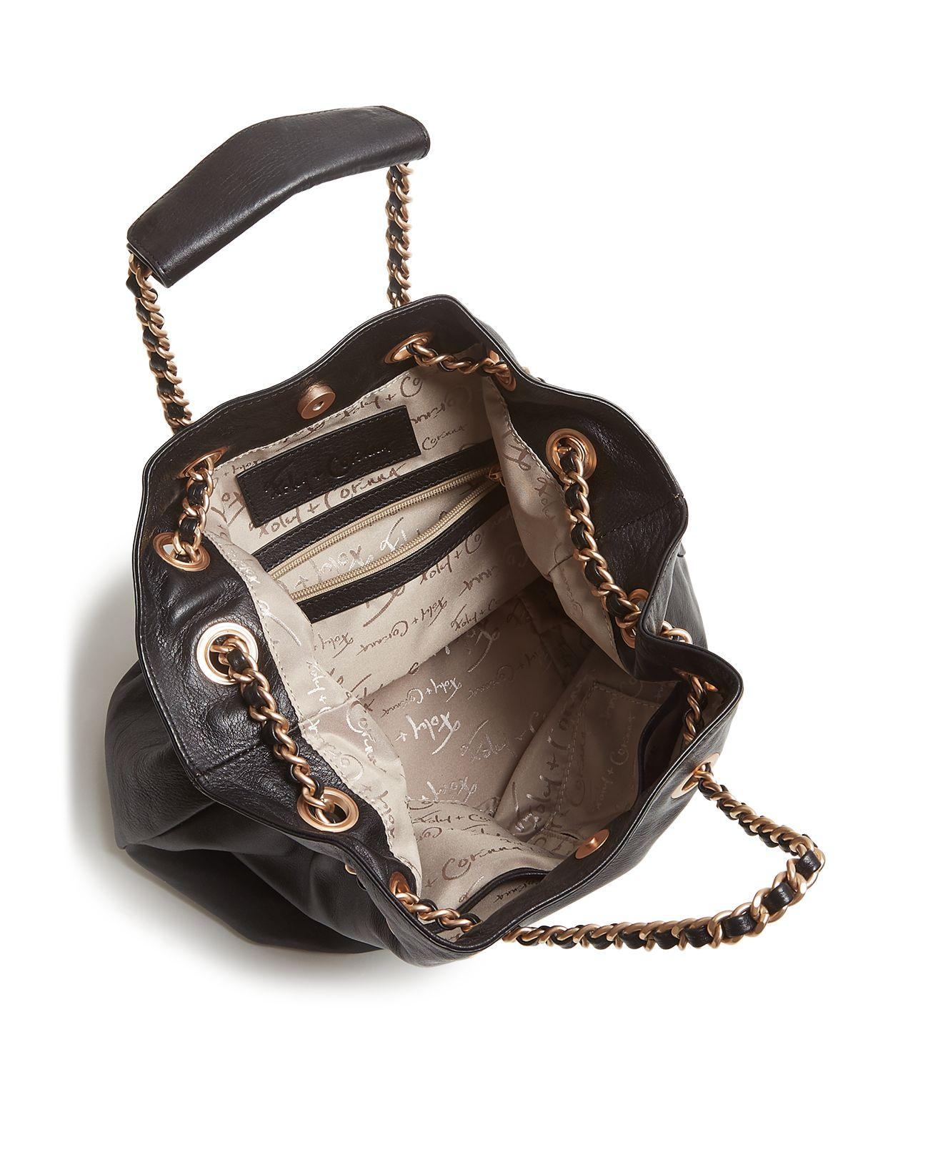 Foley + Corinna Leather Daisy Tote in Black/Gold (Black)