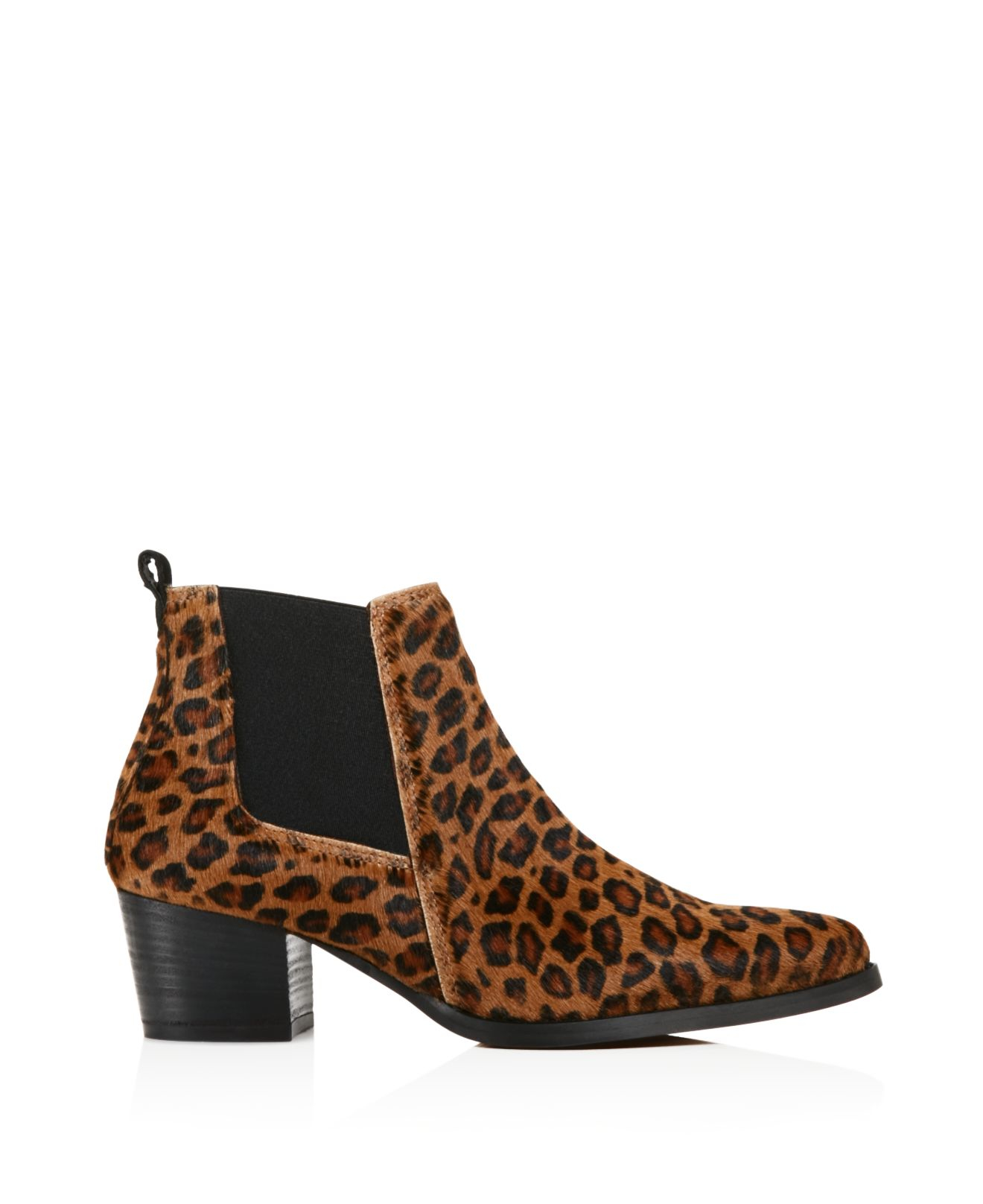 Kenneth Cole Leather Russie Leopard Print Calf Hair Chelsea Booties - 100% Bloomingdale's Exclusive in Brown