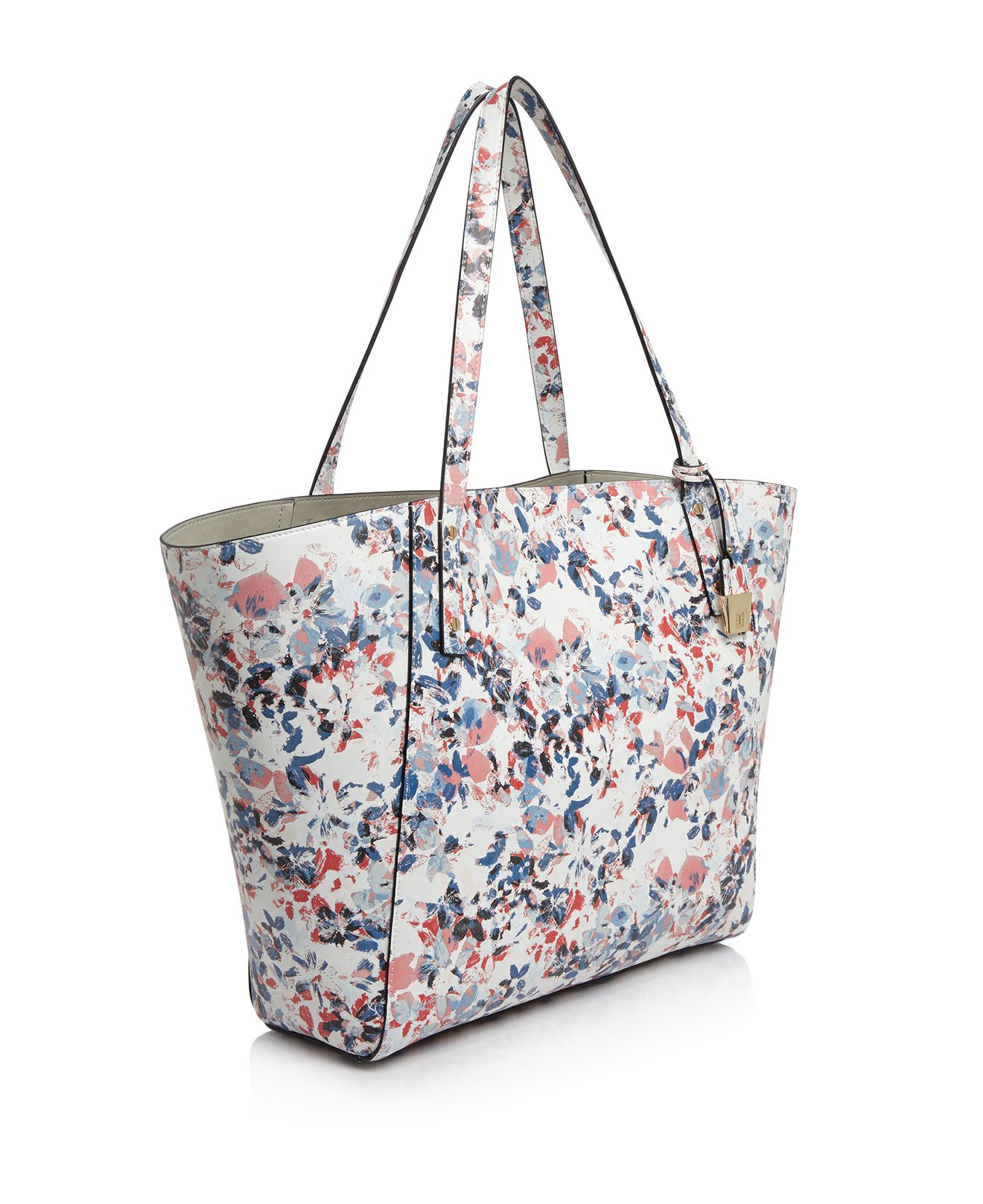 Ivanka Trump Leather Alexey Floral Shopper Tote