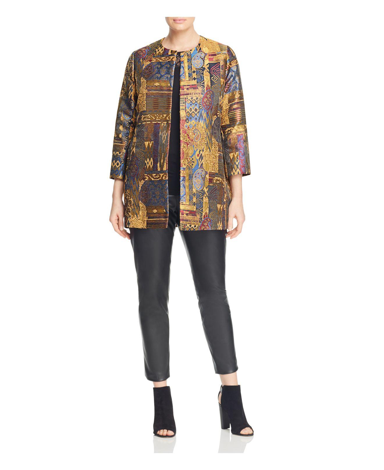 Lyst Marina Rinaldi Nave Tapestry Jacquard Jacket