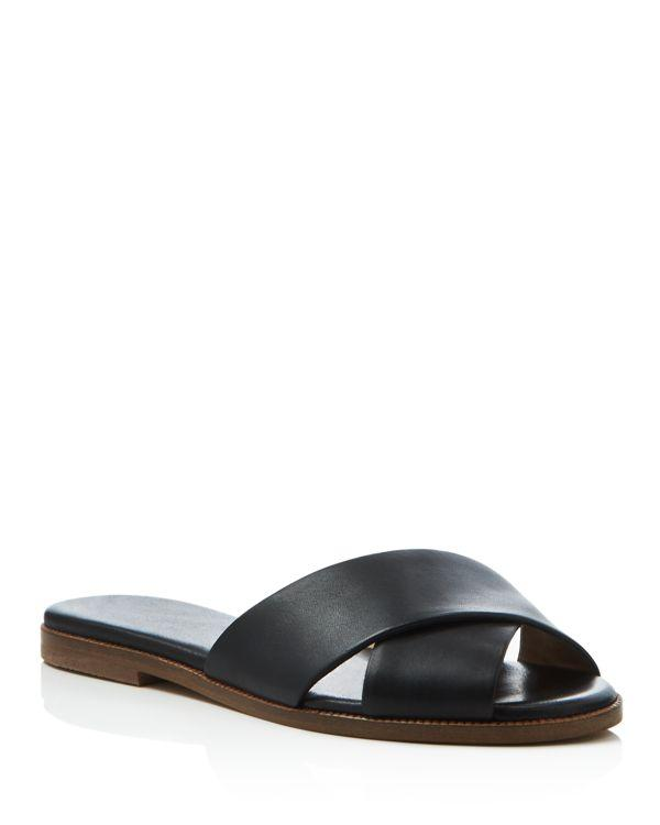 Splendid Baron Criss Cross Slide Sandals In Black Lyst