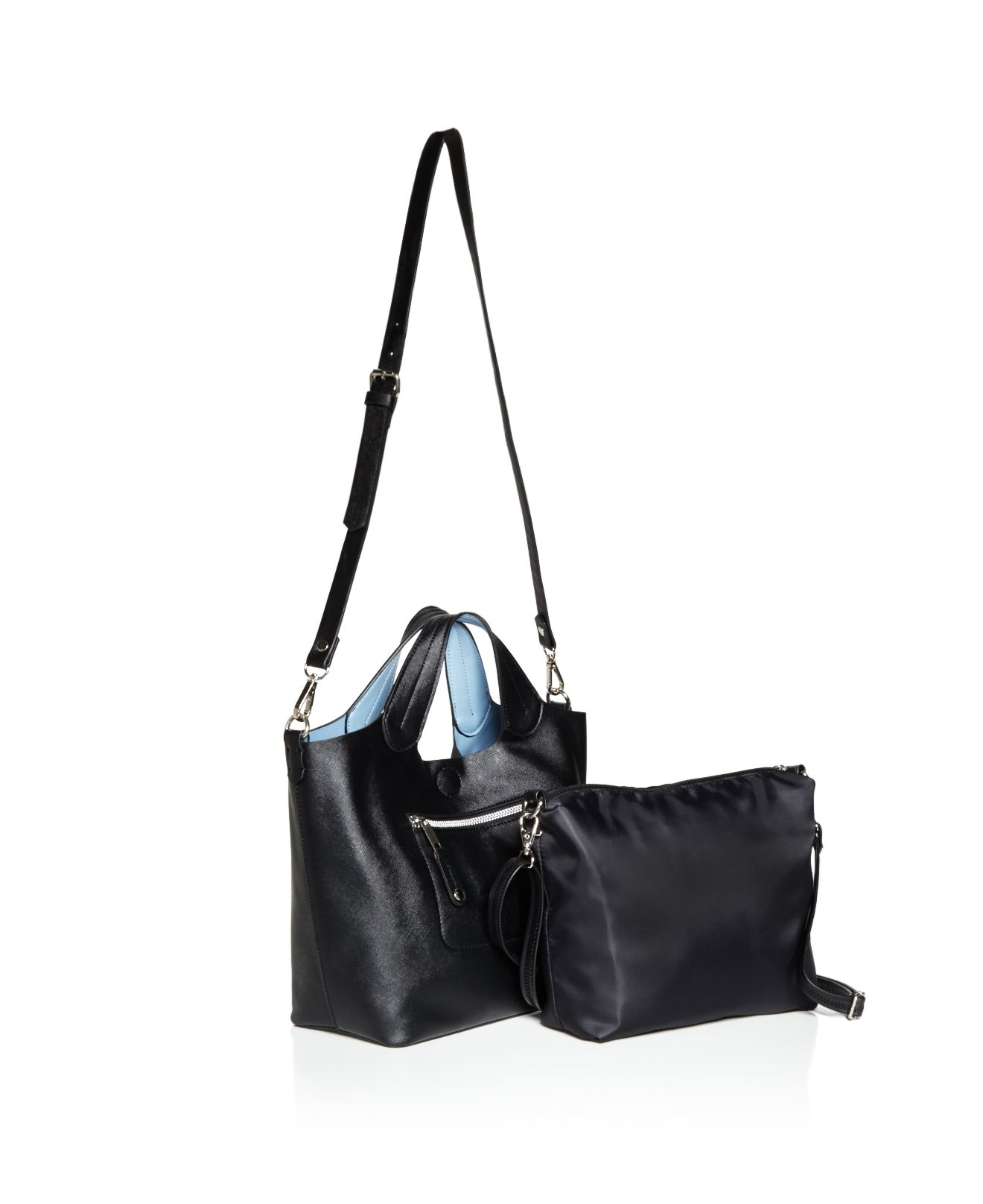 Carlos By Carlos Santana Synthetic Brooke Two-in-one Tote - Compare At $89 in Black
