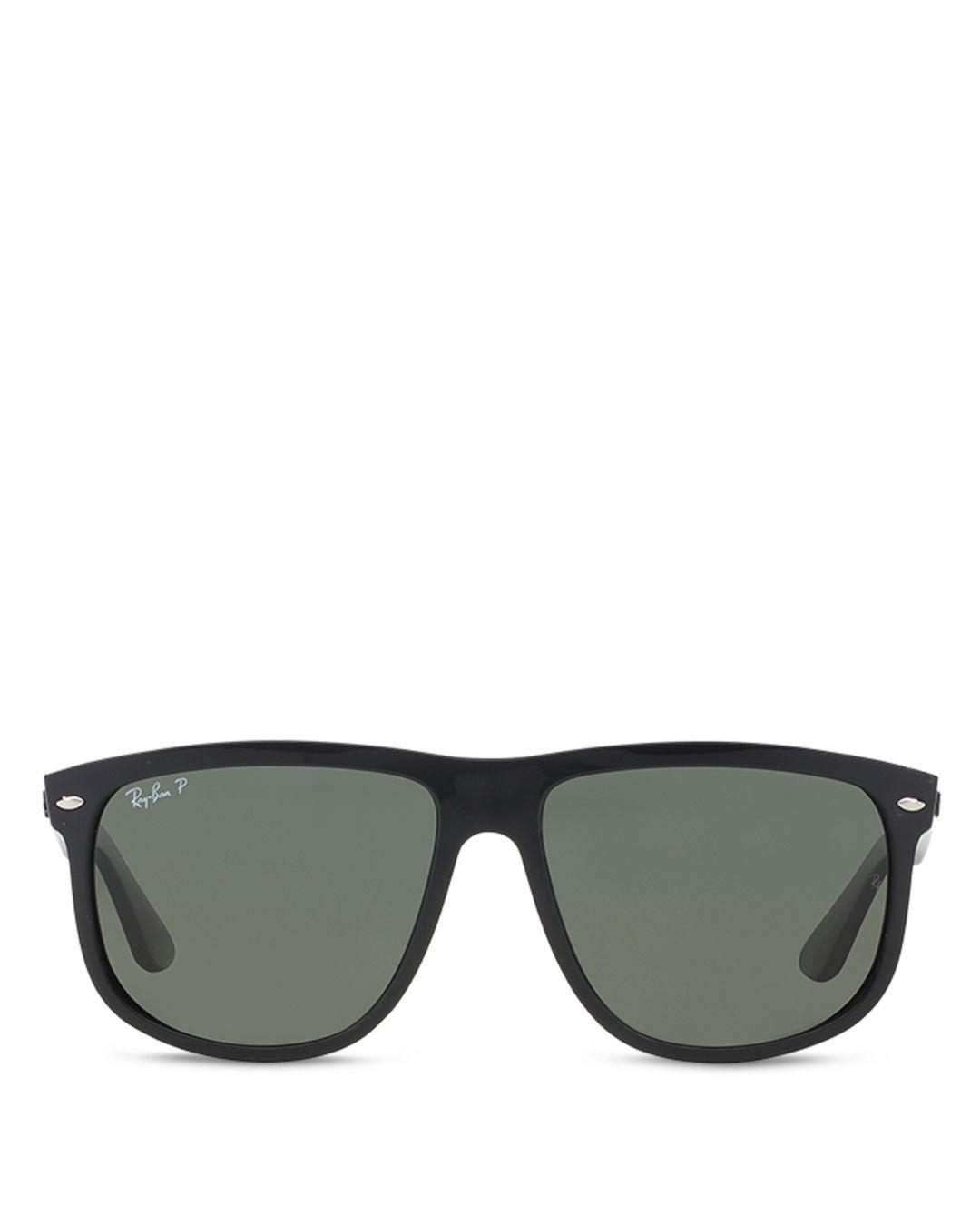 e301cbf8e34 Ray-Ban Polarized Flat Top Sunglasses in Black - Lyst