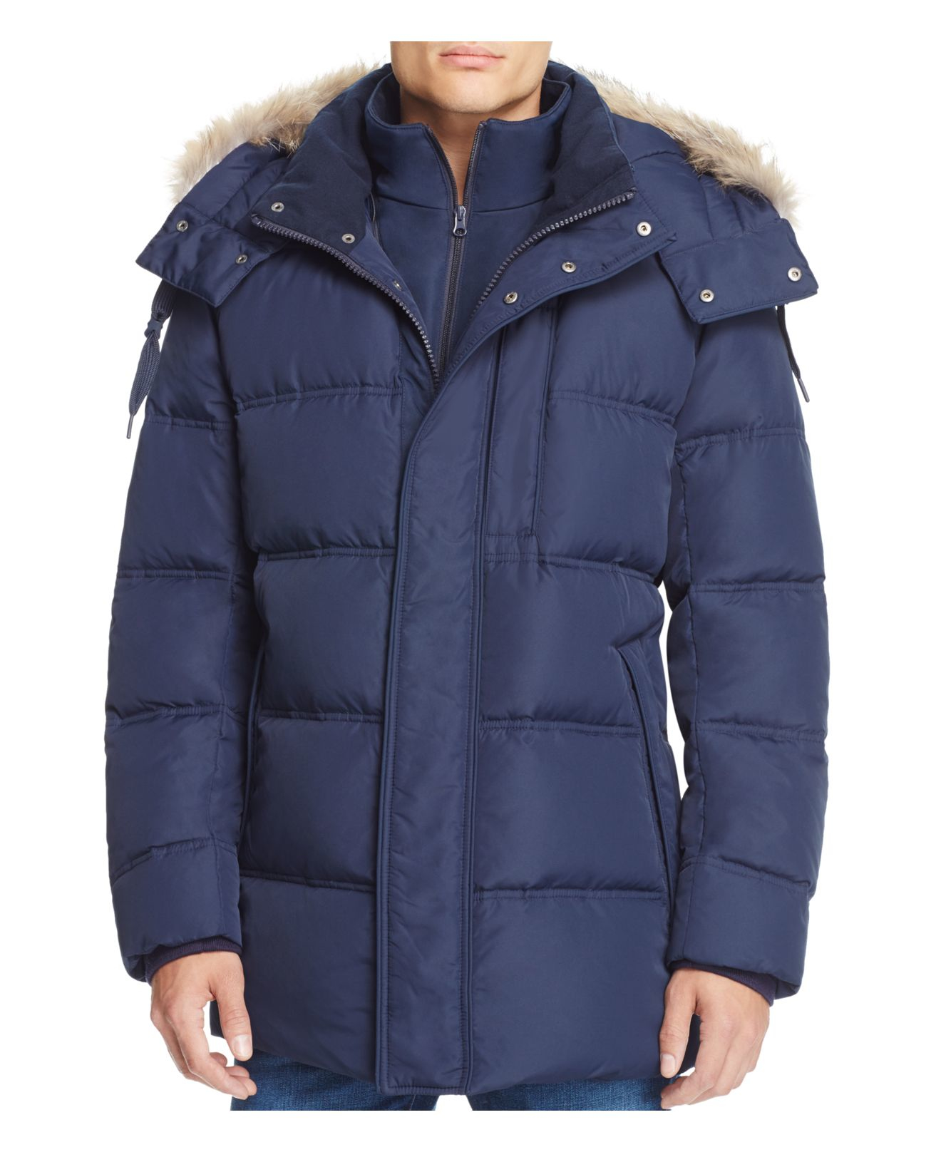 Marc New York Winslow Hooded Down Parka In Blue For Men Lyst