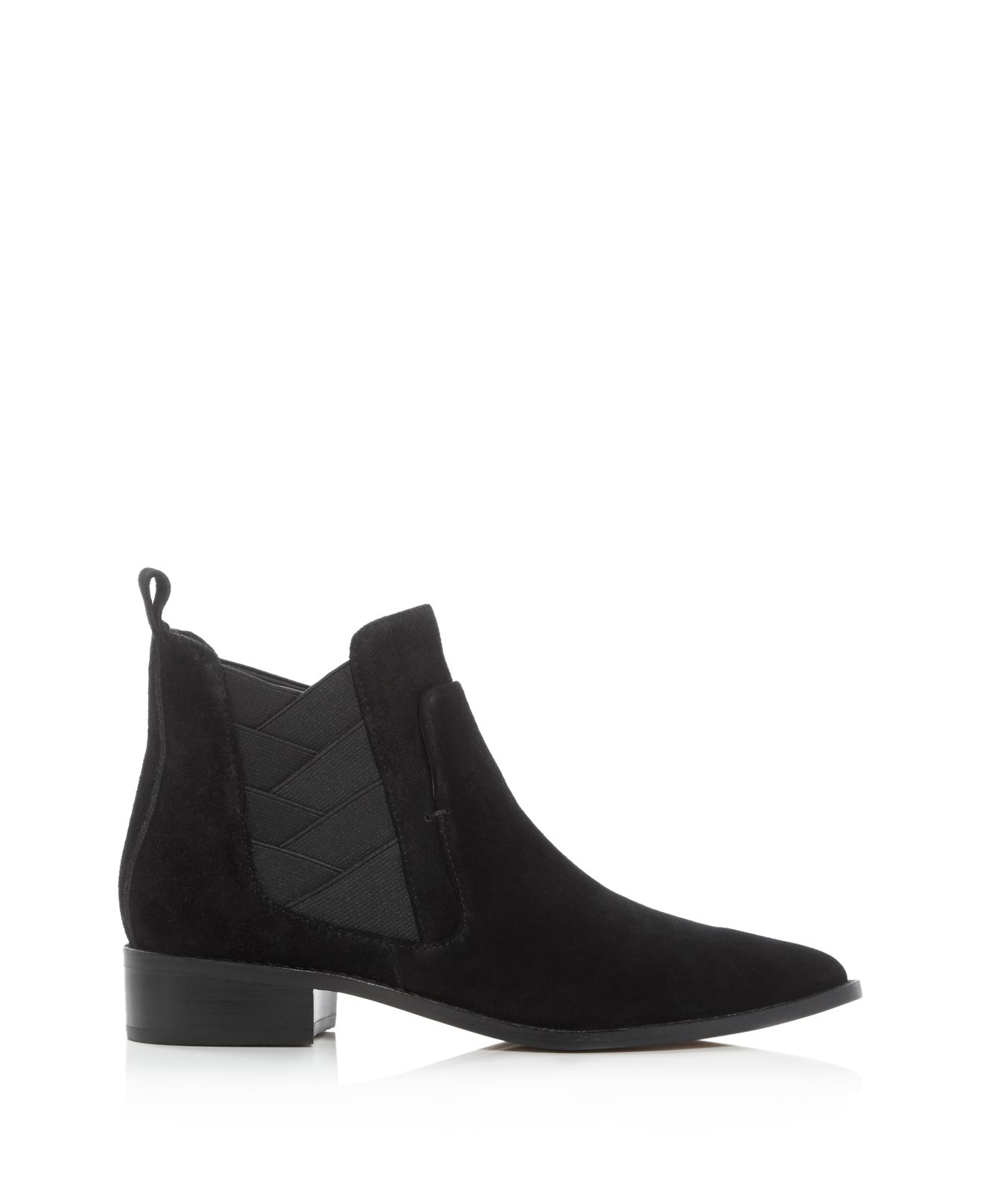Rebecca Minkoff Suede Jacy Pointed Toe Booties in Black