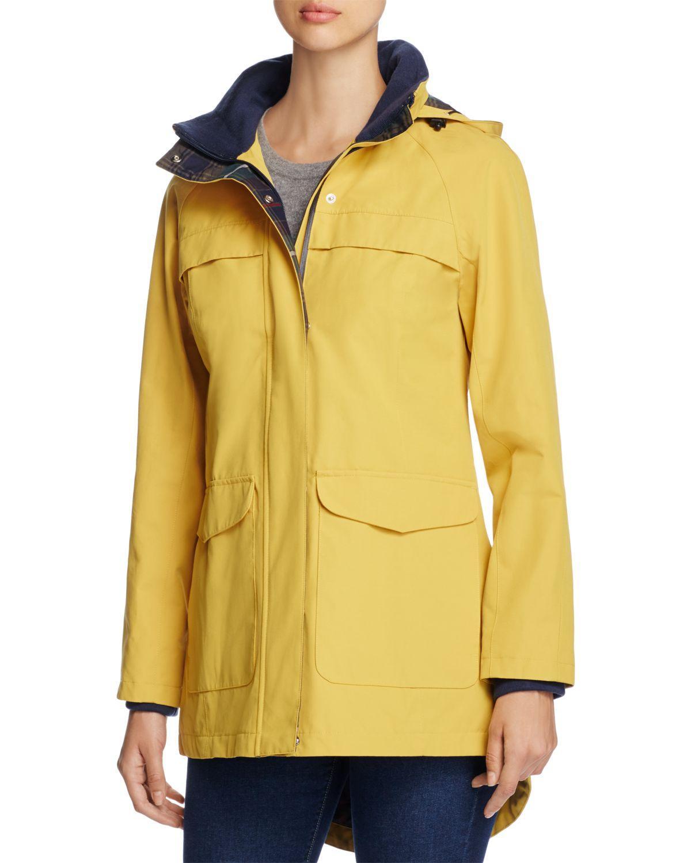 Pendleton Cotton Hooded Rain Coat In Yellow Lyst [ 1500 x 1200 Pixel ]