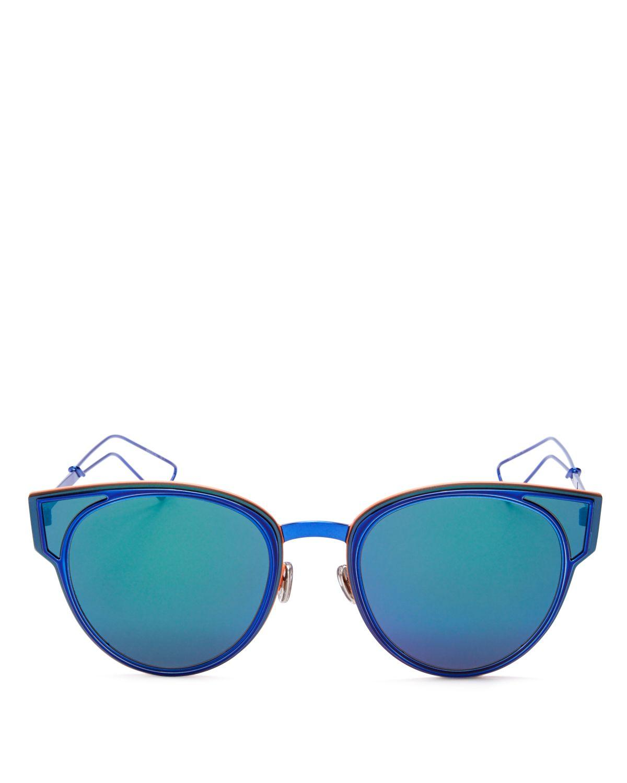 09a21da66df Dior Sculpt Mirrored Cat Eye Sunglasses 50mm