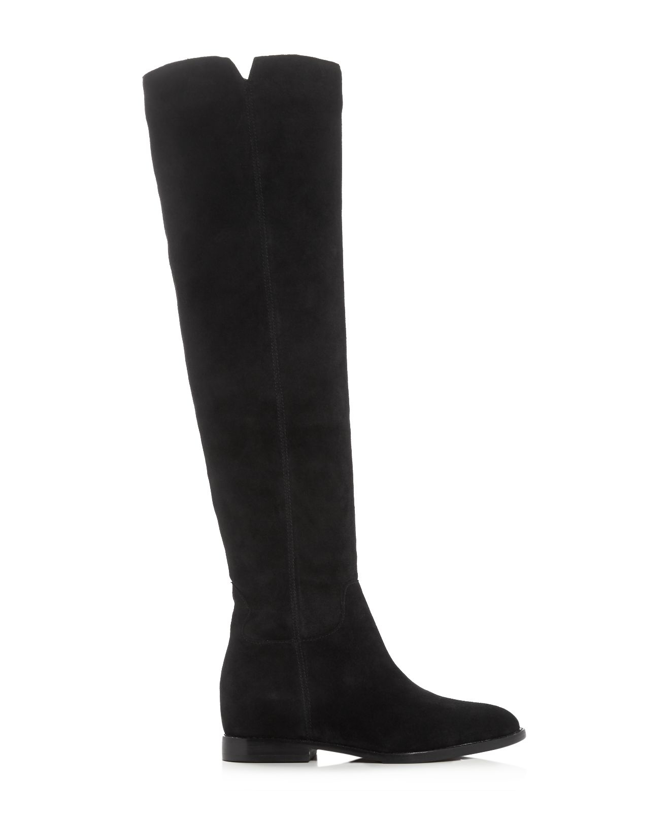 Ash Suede Jess Over The Knee Boots in Black