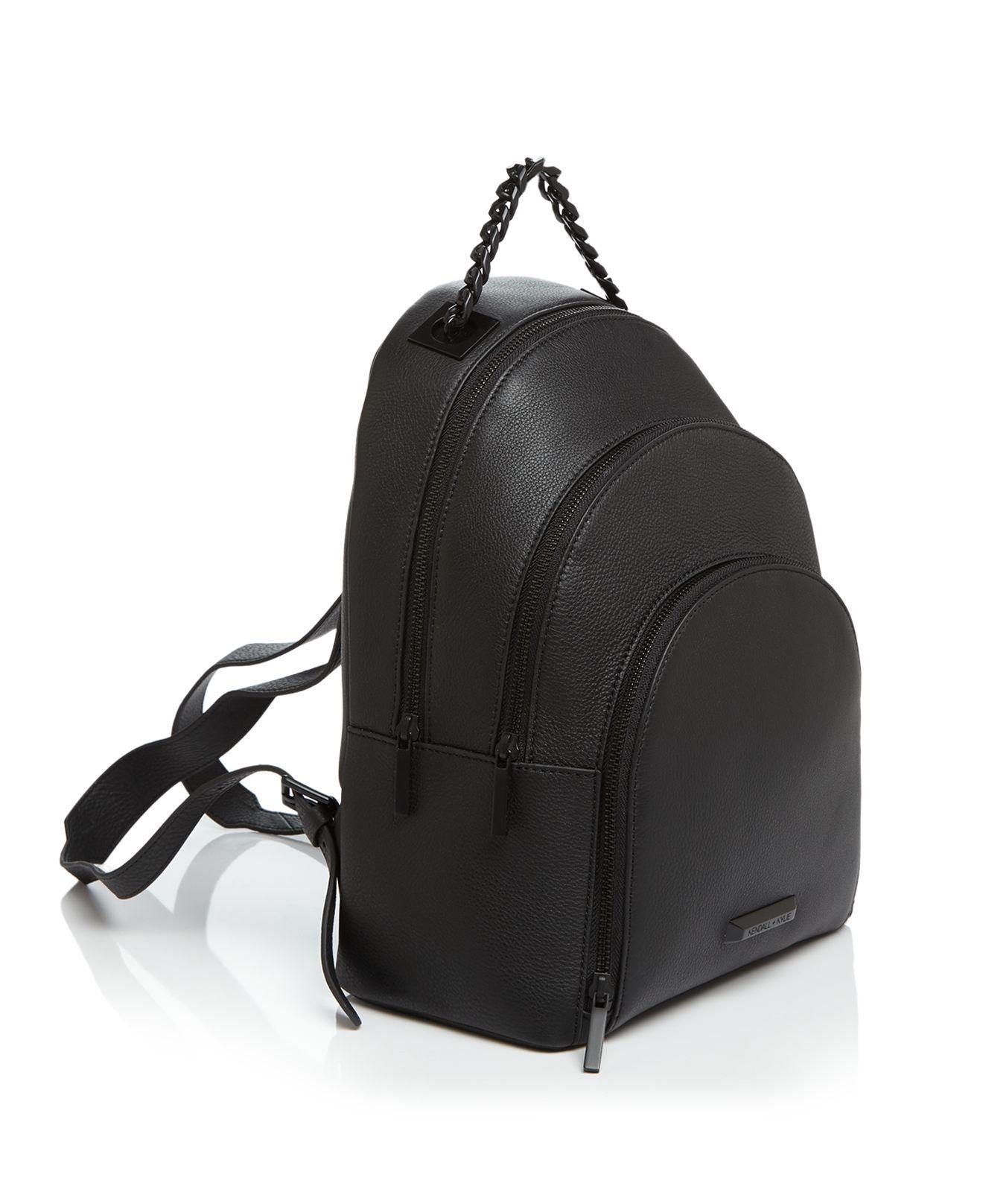 Kendall + Kylie Leather Sloane Backpack in Black/Black (Black)