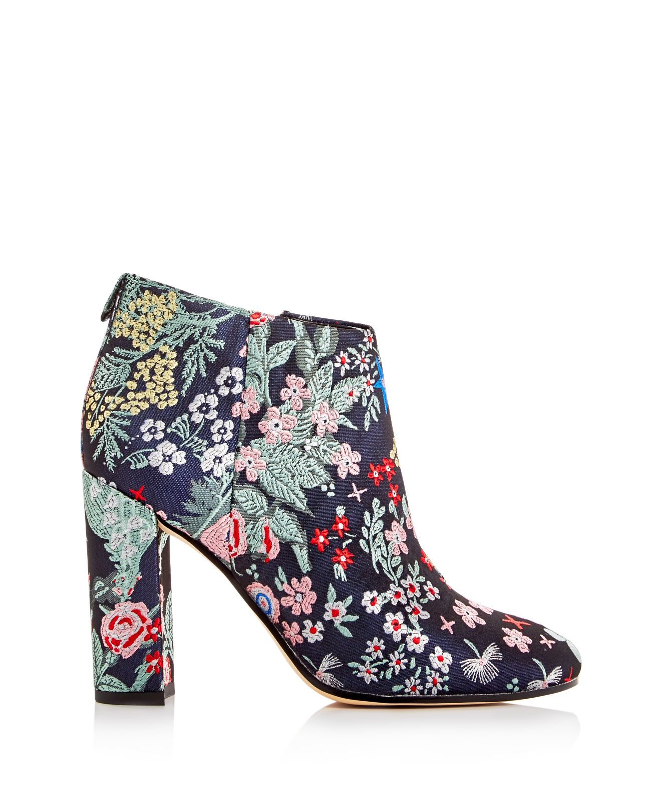 Sam Edelman Synthetic Campbell Floral Jacquard Block Heel Booties in Blue