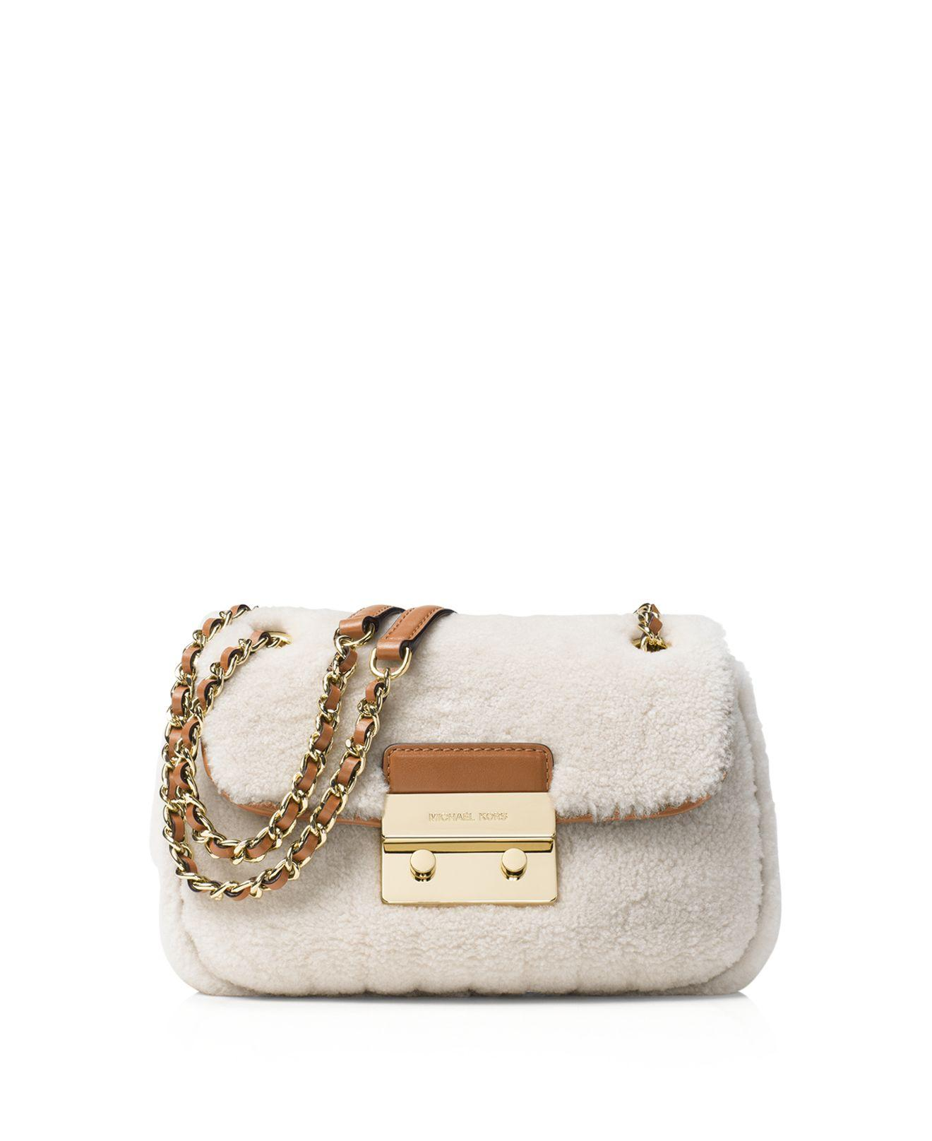 d658f849a90 Michael Kors Michael Sloan Small Chain Shoulder Bag in Natural - Lyst