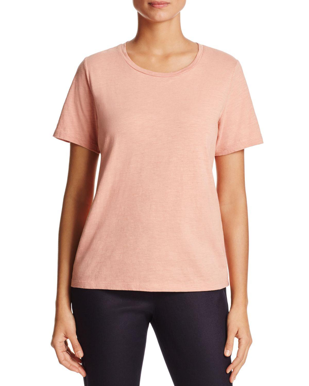 Eileen fisher organic cotton heathered tee in multicolor for Eileen fisher organic cotton t shirt