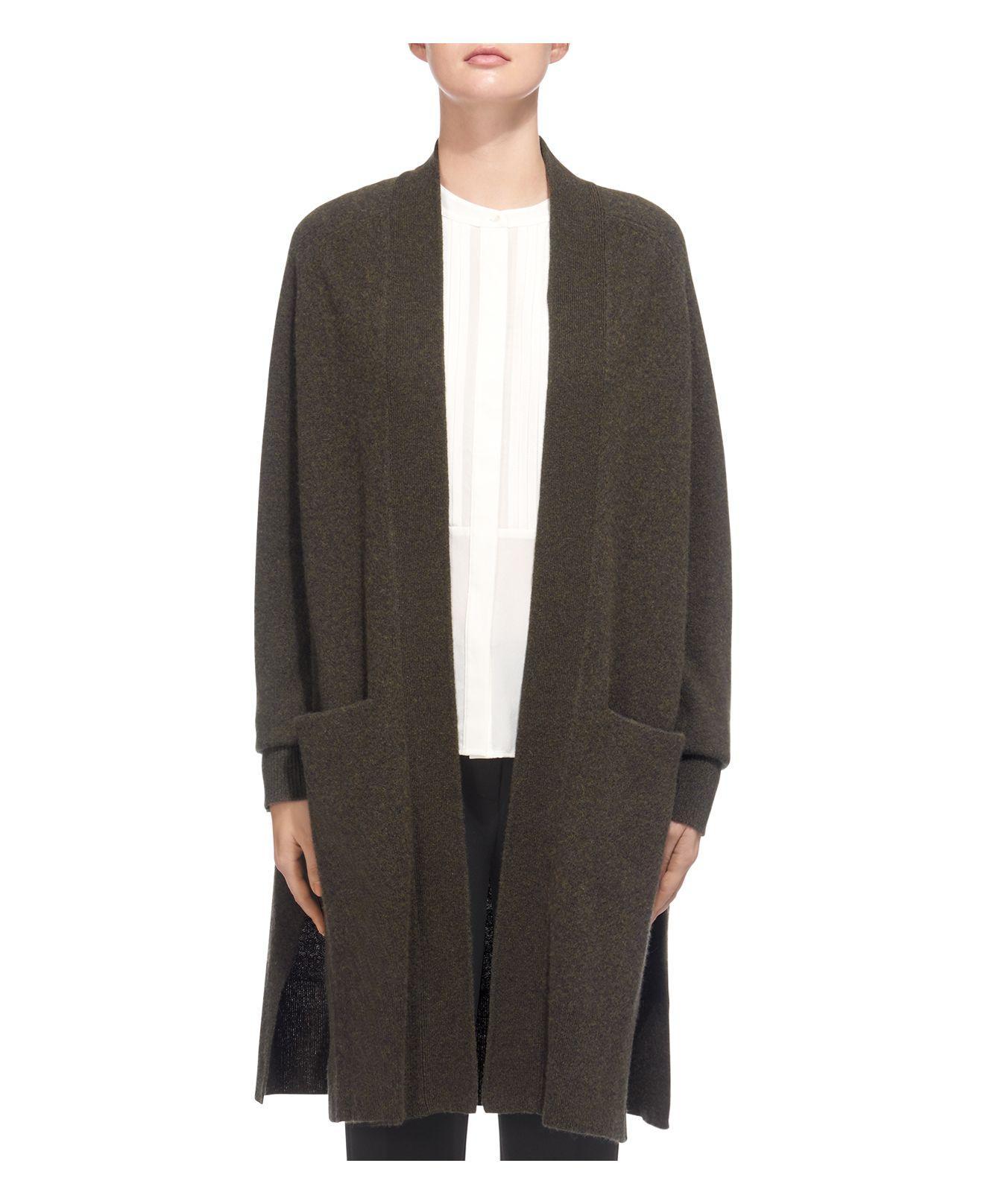 Whistles Boiled Wool Longline Cardigan | Lyst