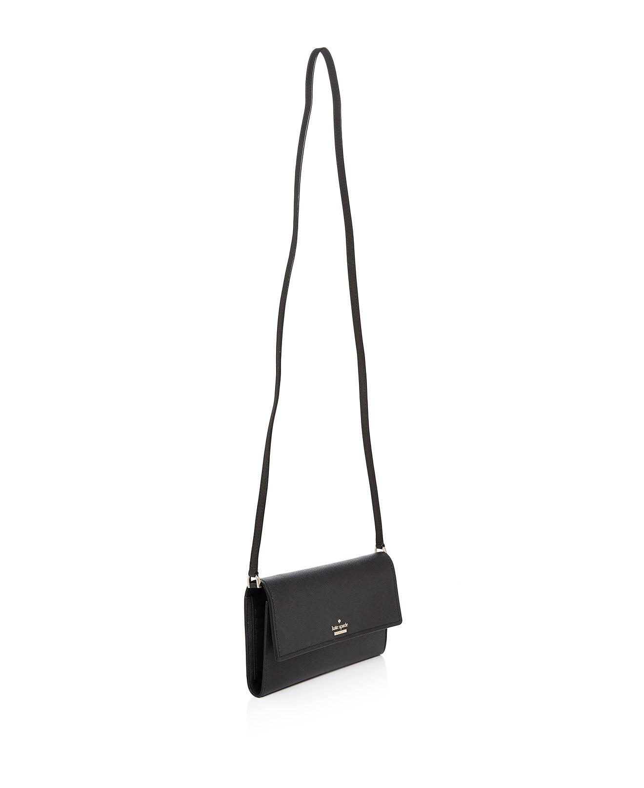 Kate Spade Leather Cameron Street Stormie Crossbody in Black/Gold (Black)