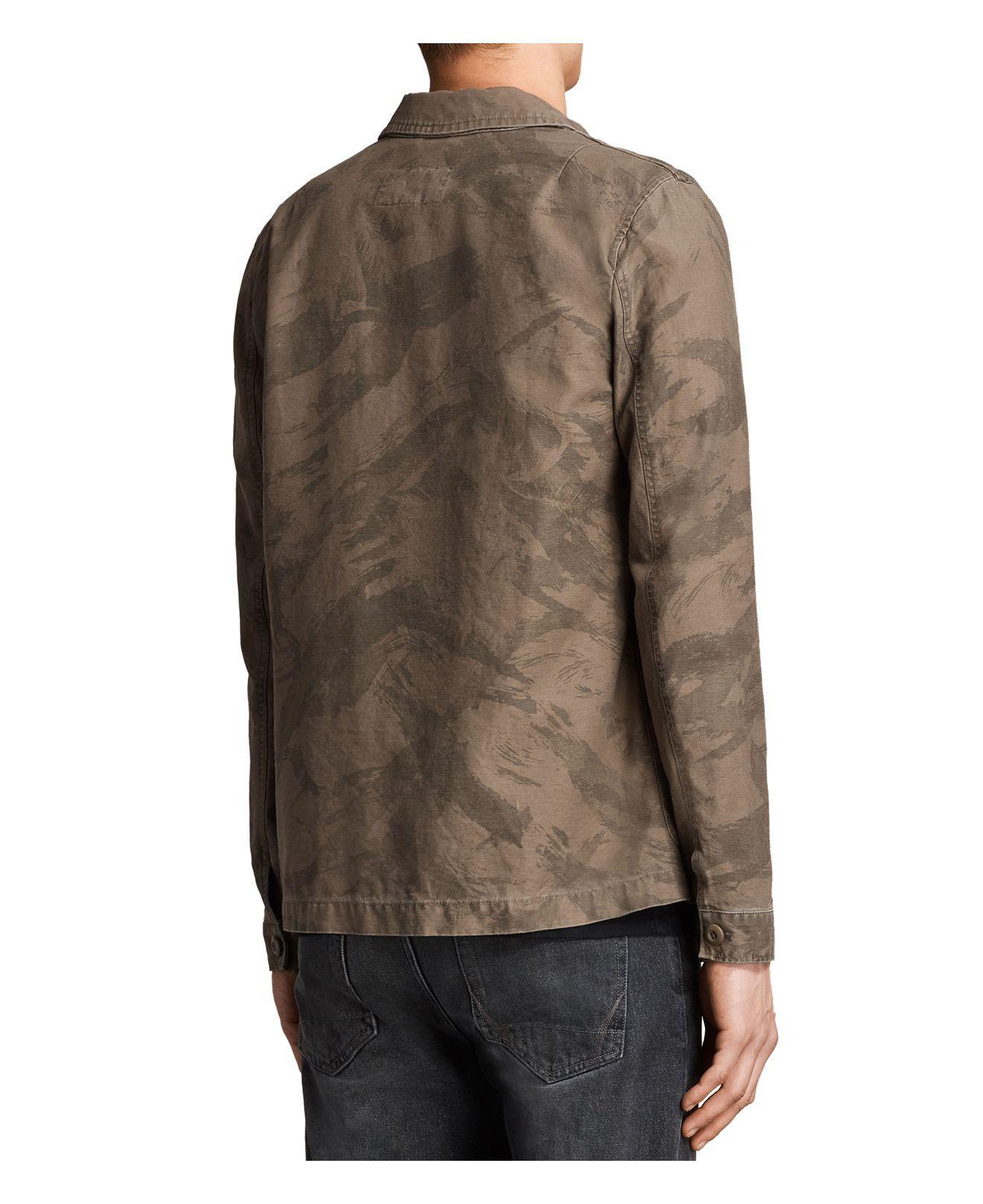 AllSaints Yasuko Jacket in Khaki Brown (Brown) for Men